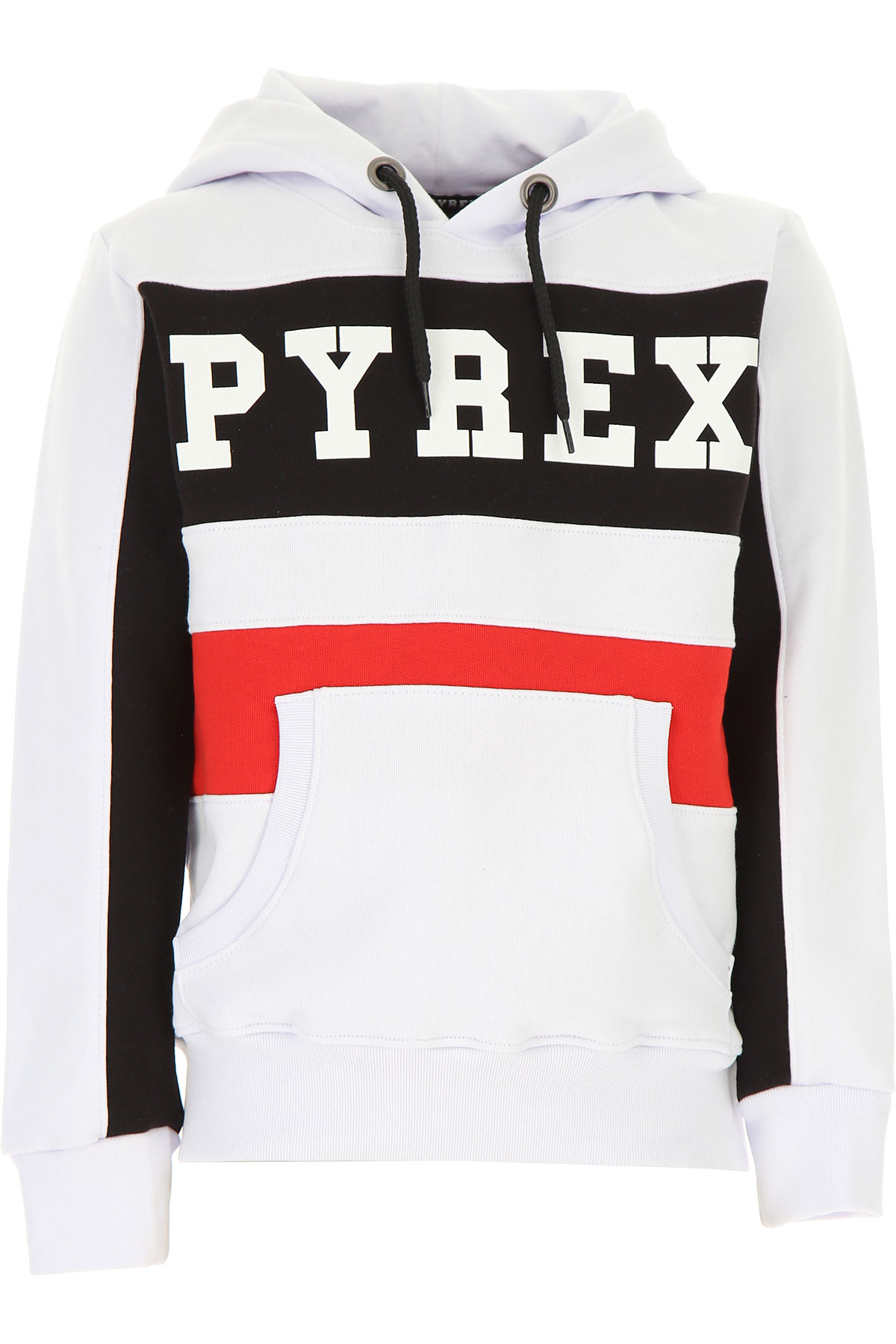Pyrex Kids Sweatshirts & Hoodies for Boys On Sale, White, Cotton, 2019, M S XS