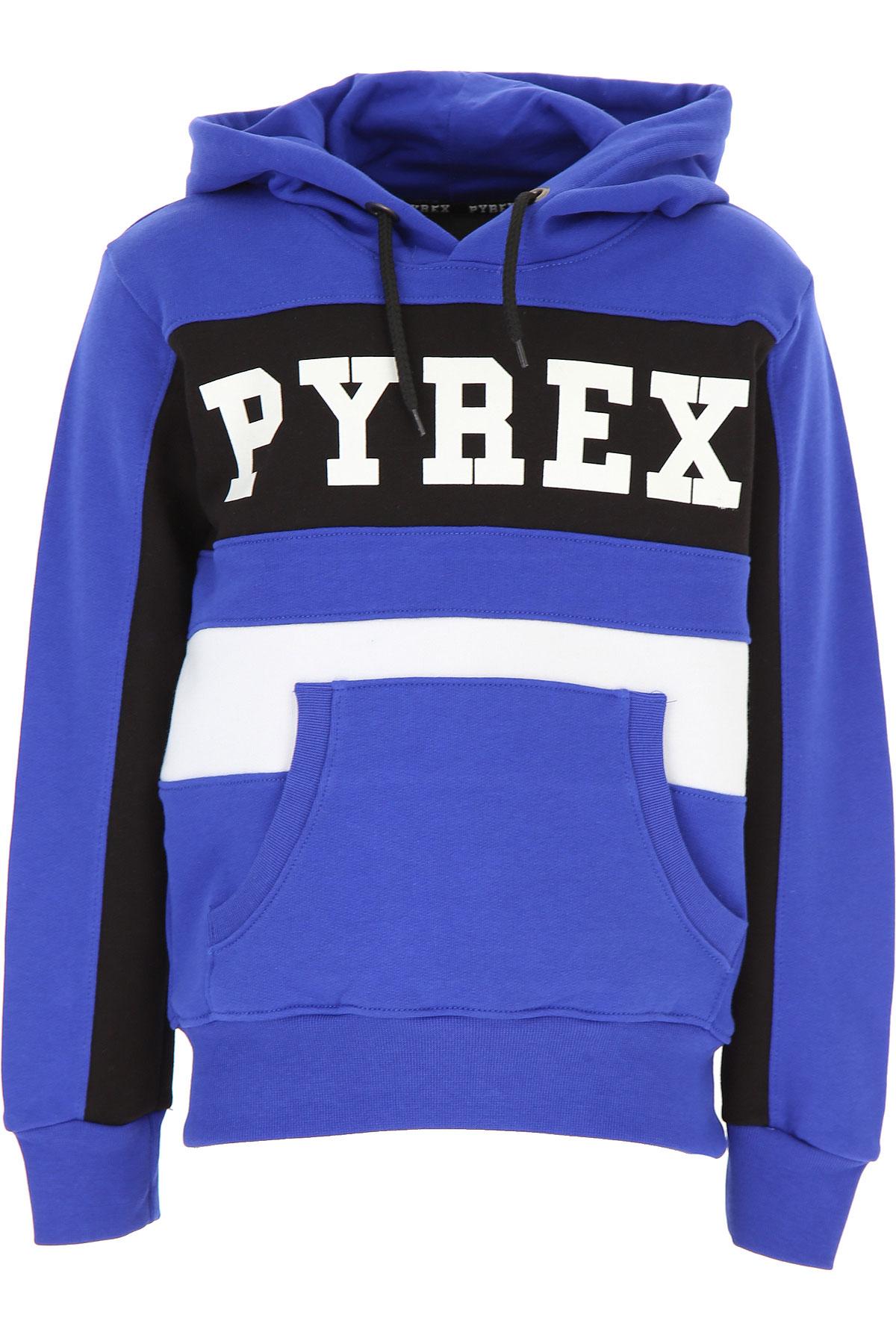 Pyrex Kids Sweatshirts & Hoodies for Boys On Sale, Blue Royal, Cotton, 2019, M S XL XS