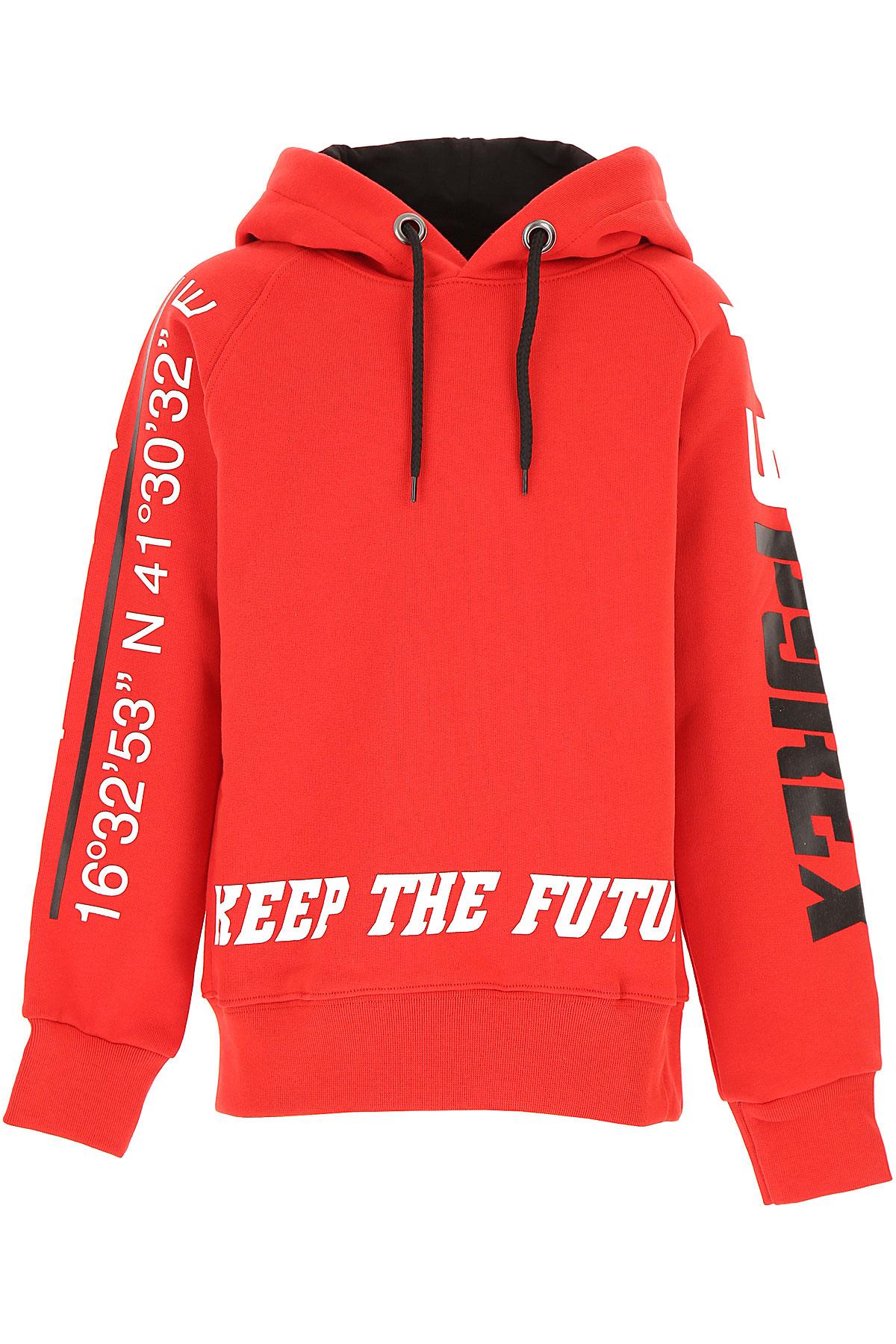 Pyrex Kids Sweatshirts & Hoodies for Boys On Sale, Red, Cotton, 2019, M S XL XS