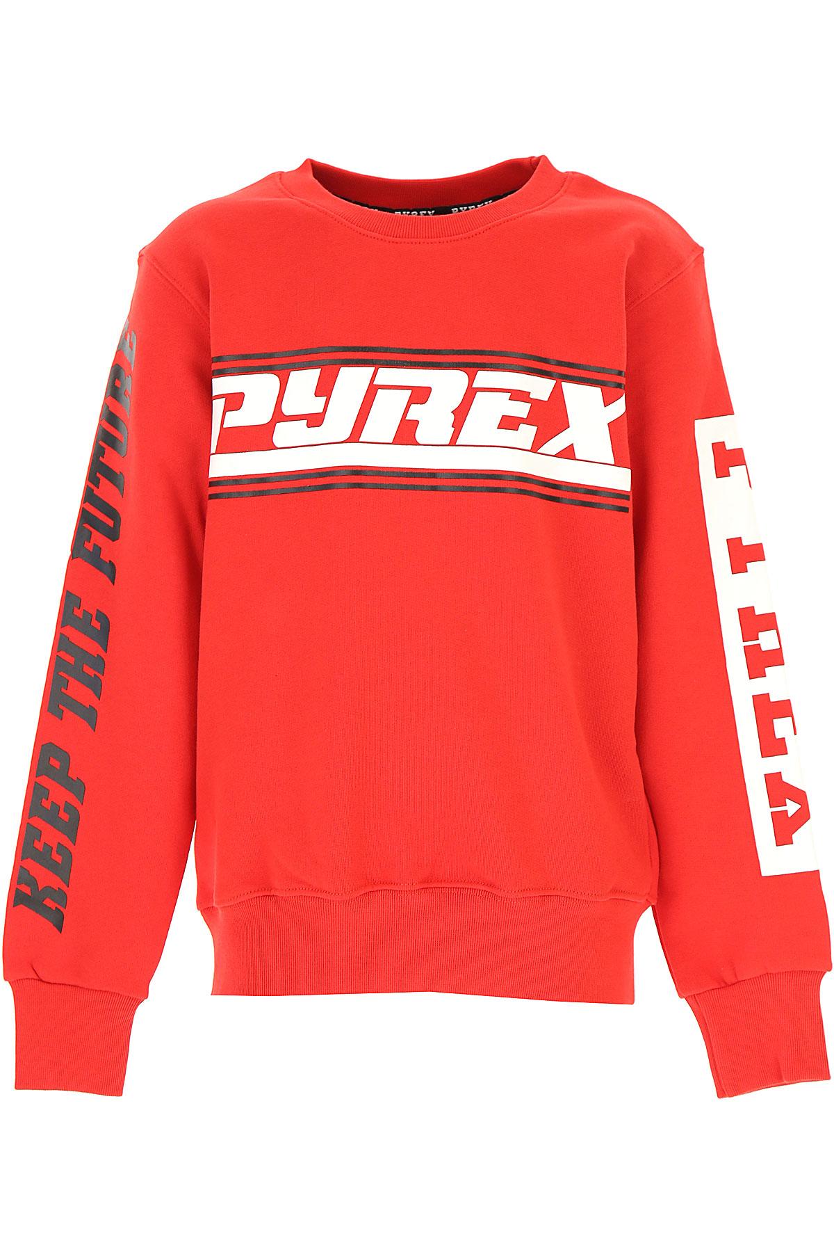 Pyrex Kids Sweatshirts & Hoodies for Boys On Sale, Red, Cotton, 2019, L M S XL XS XXL (16 Y)
