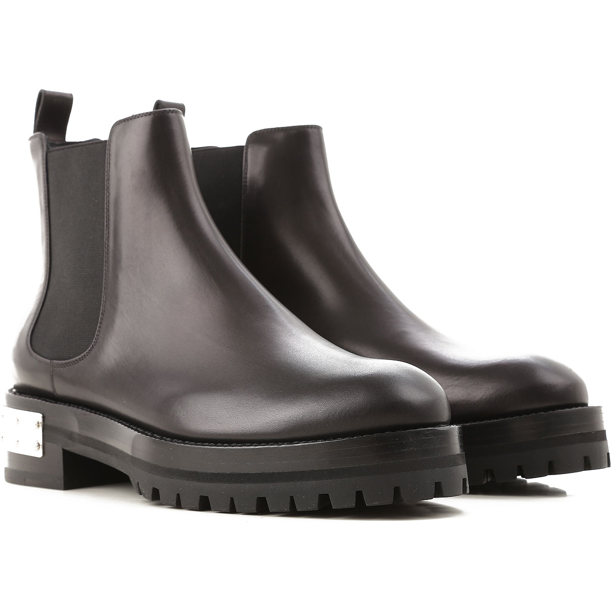 Image of Alexander McQueen Chelsea Boots for Women, Black, Leather, 2017, 10 11 5.5 6 7 8 8.5
