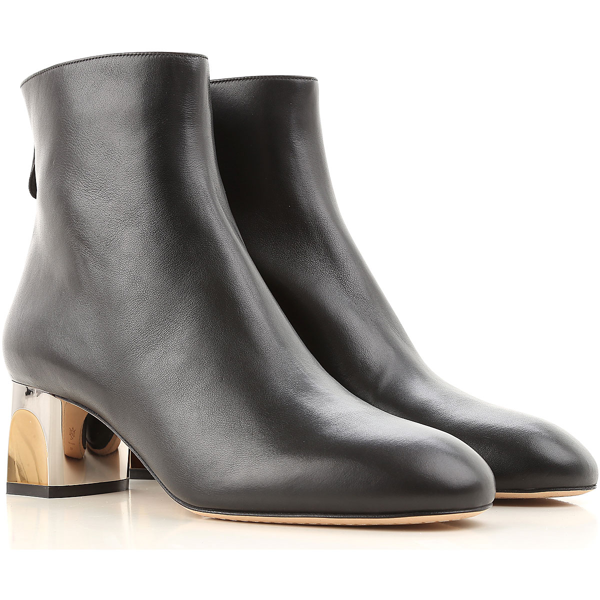 Alexander McQueen Boots for Women, Booties On Sale in Outlet, Black, Leather, 2019, 8 9