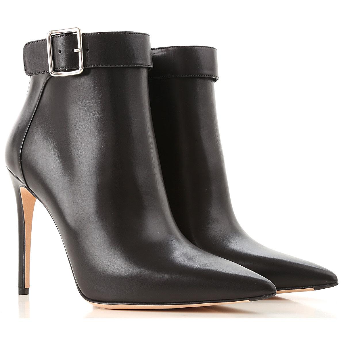 Image of Alexander McQueen Boots for Women, Booties, Black, Leather, 2017, 6 7 8 8.5