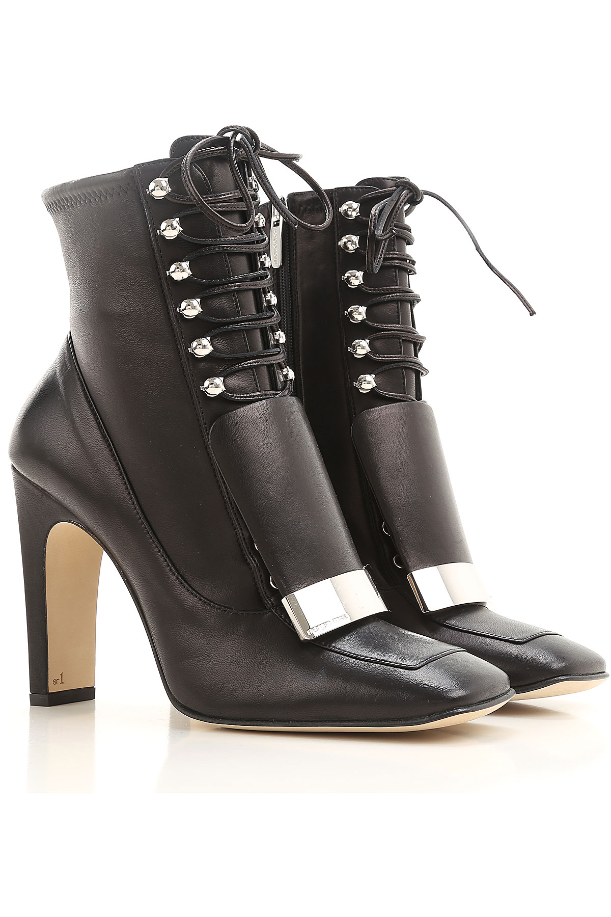 Image of Sergio Rossi Boots for Women, Booties, Black, Leather, 2017, 10 6 7 8 9
