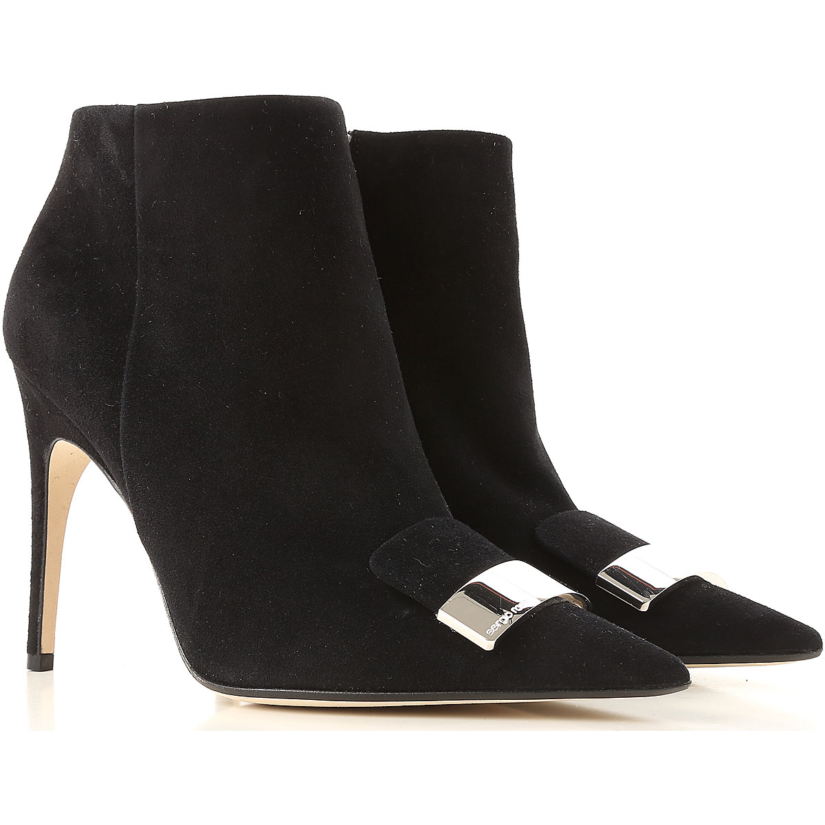 Image of Sergio Rossi Boots for Women, Booties, Black, Leather, 2017, 10 5 6 6.5 7 8 8.5
