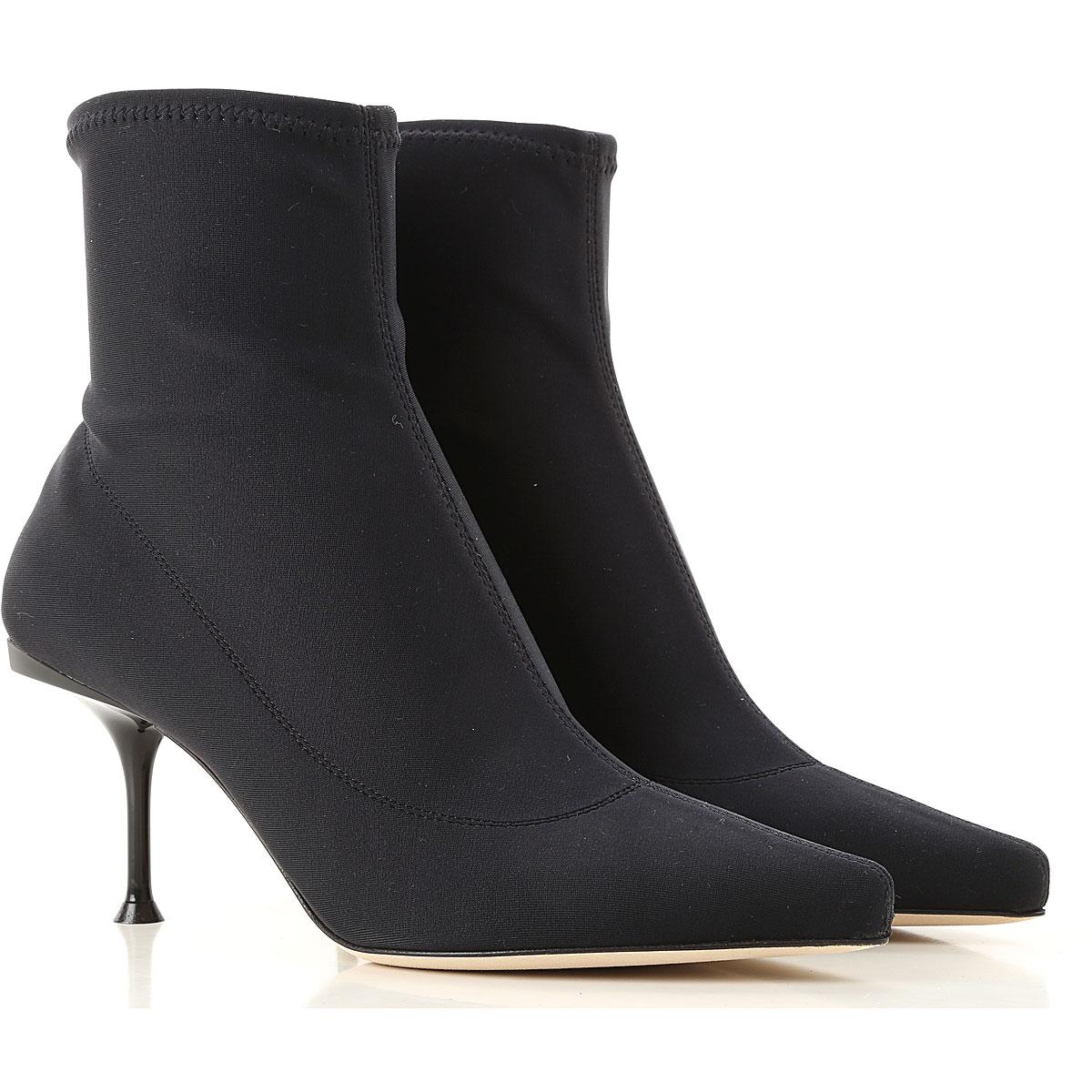 Image of Sergio Rossi Boots for Women, Booties, Black, Elastane, 2017, 10 6 6.5 7 8.5