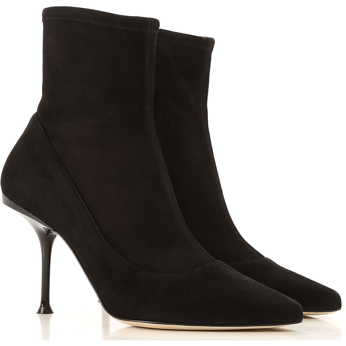 Sergio Rossi Boots for Women, Booties On Sale, Black, Suede leather, 2019, 5.5 6 7 8 8.5 9