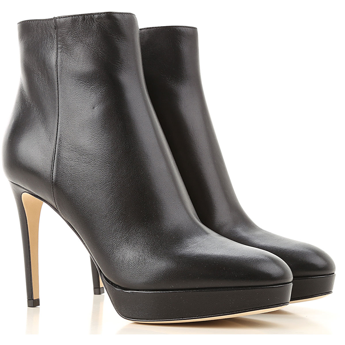 Sergio Rossi Boots for Women, Booties On Sale, Black, Leather, 2019, 10 9