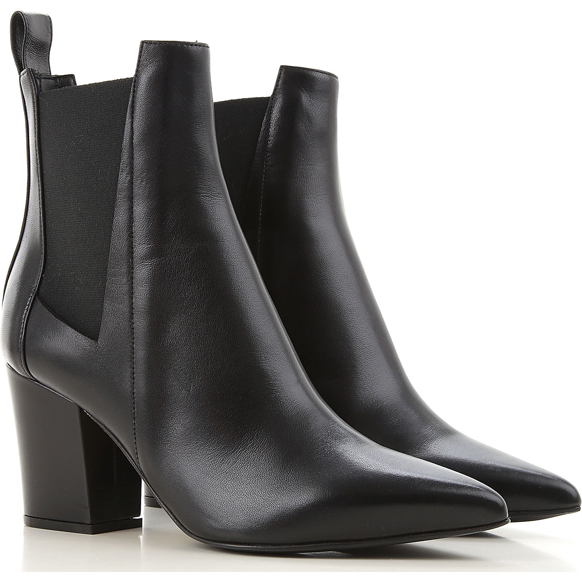 Sergio Rossi Boots for Women, Booties On Sale, Black, Leather, 2019, 10 5.5 6 8.5