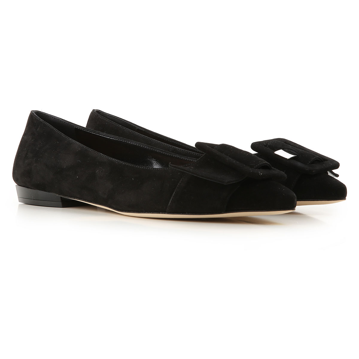 Sergio Rossi Ballet Flats Ballerina Shoes for Women On Sale, Black, Suede leather, 2019, 10 5 6 6.5 7 9