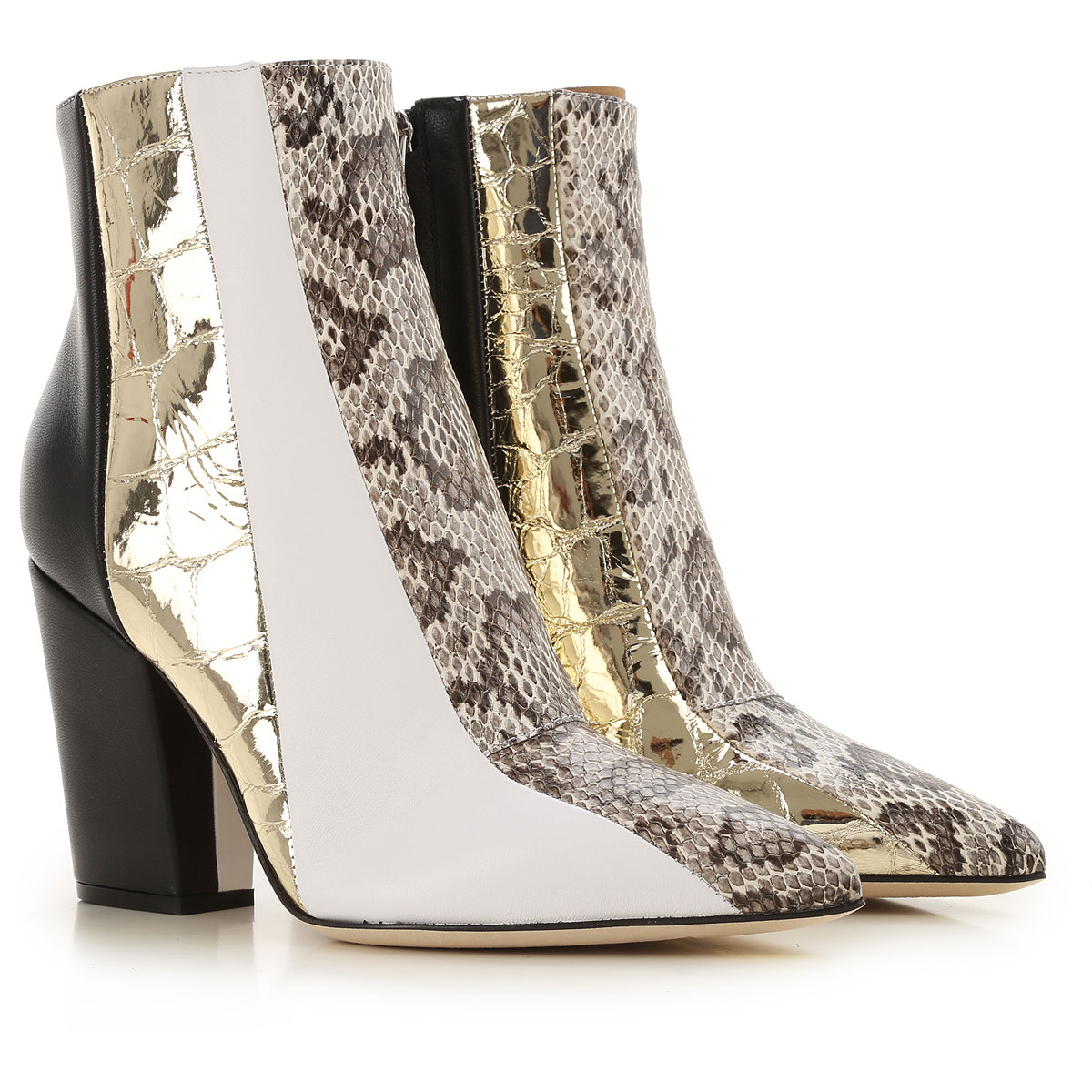 Sergio Rossi Boots for Women, Booties On Sale, Platinum, Leather, 2019, 6 7 8 9