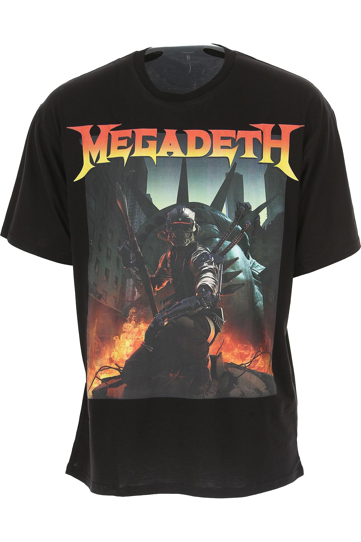 R13 T-Shirt for Men, Black, Cotton, 2017, L M XL