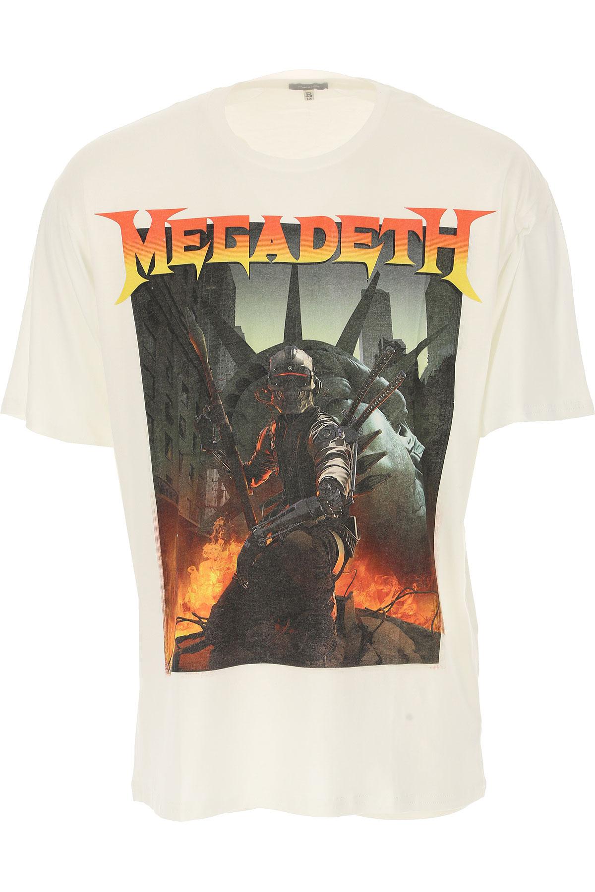 R13 T-Shirt for Men, White, Cotton, 2017, L M XL