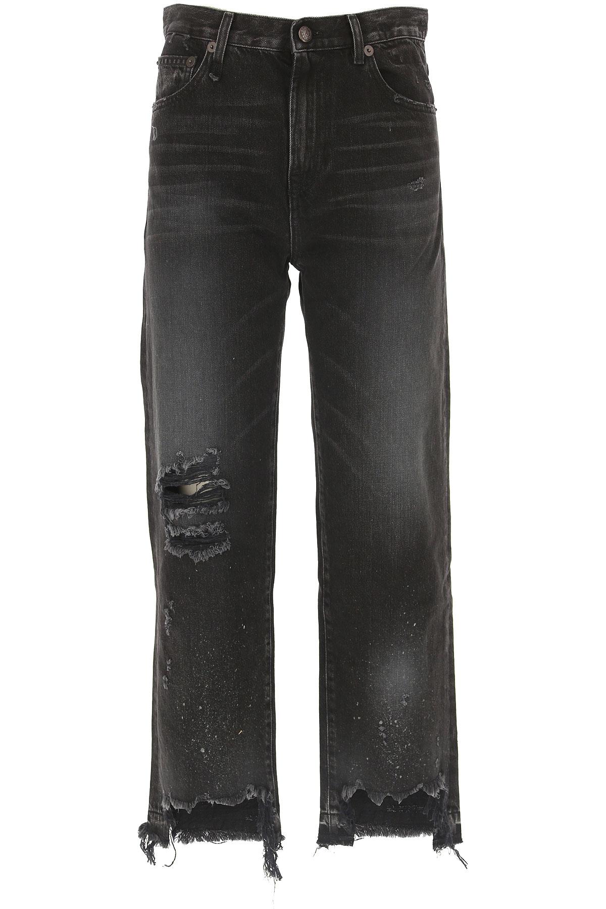R13 Jeans On Sale, Ash Denim Black, Cotton, 2019, 25 27