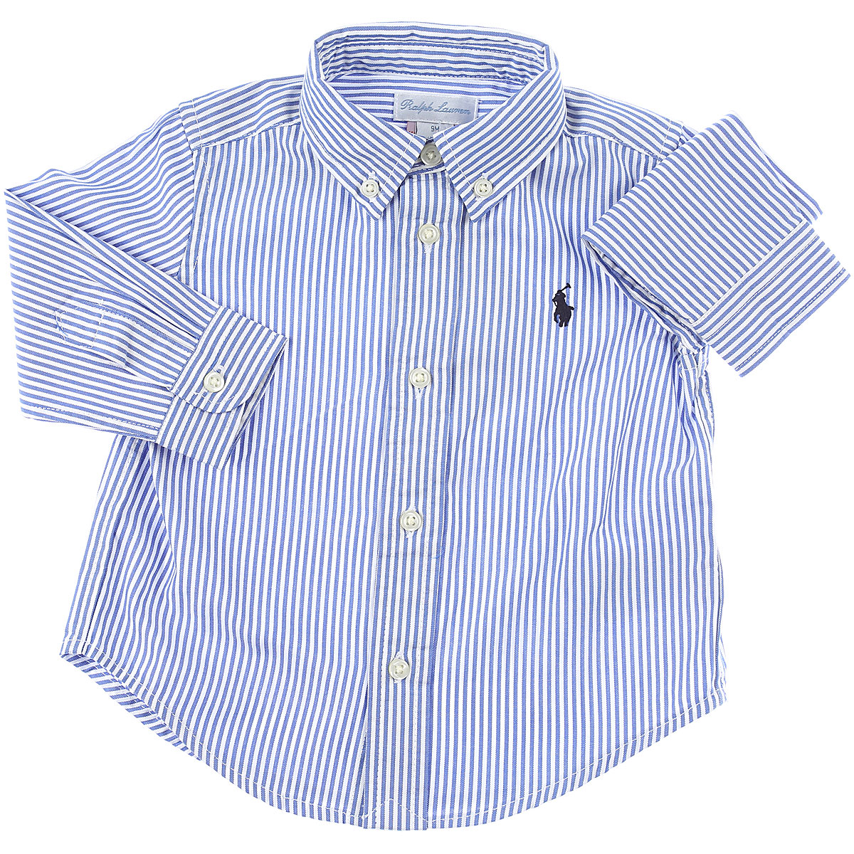 Ralph Lauren Baby Shirts for Boys On Sale, Blue Sky, Cotton, 2019, 12 M 2Y