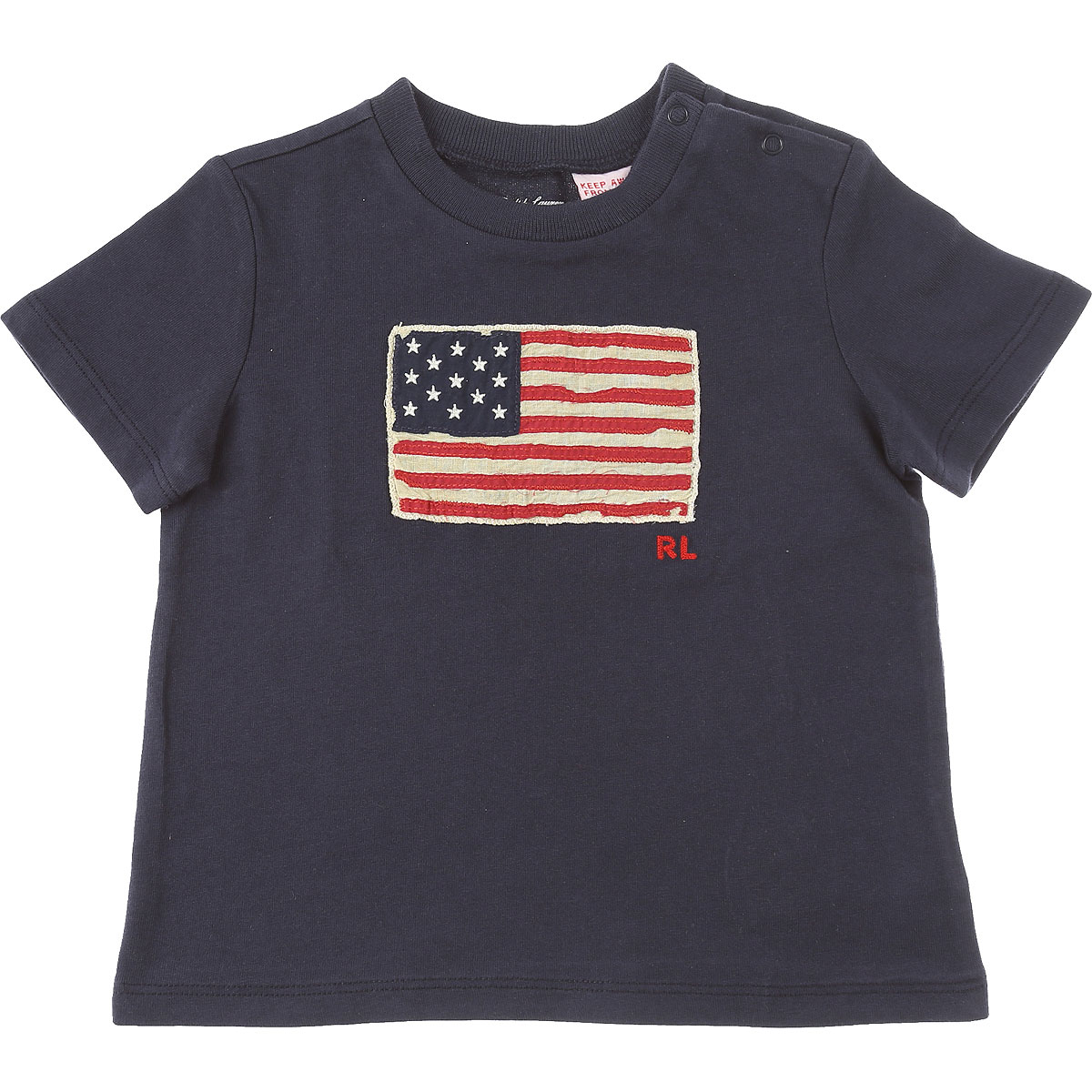 Ralph Lauren Baby T-Shirt for Boys On Sale in Outlet, Blue, Cotton, 2019, 12 M 9M