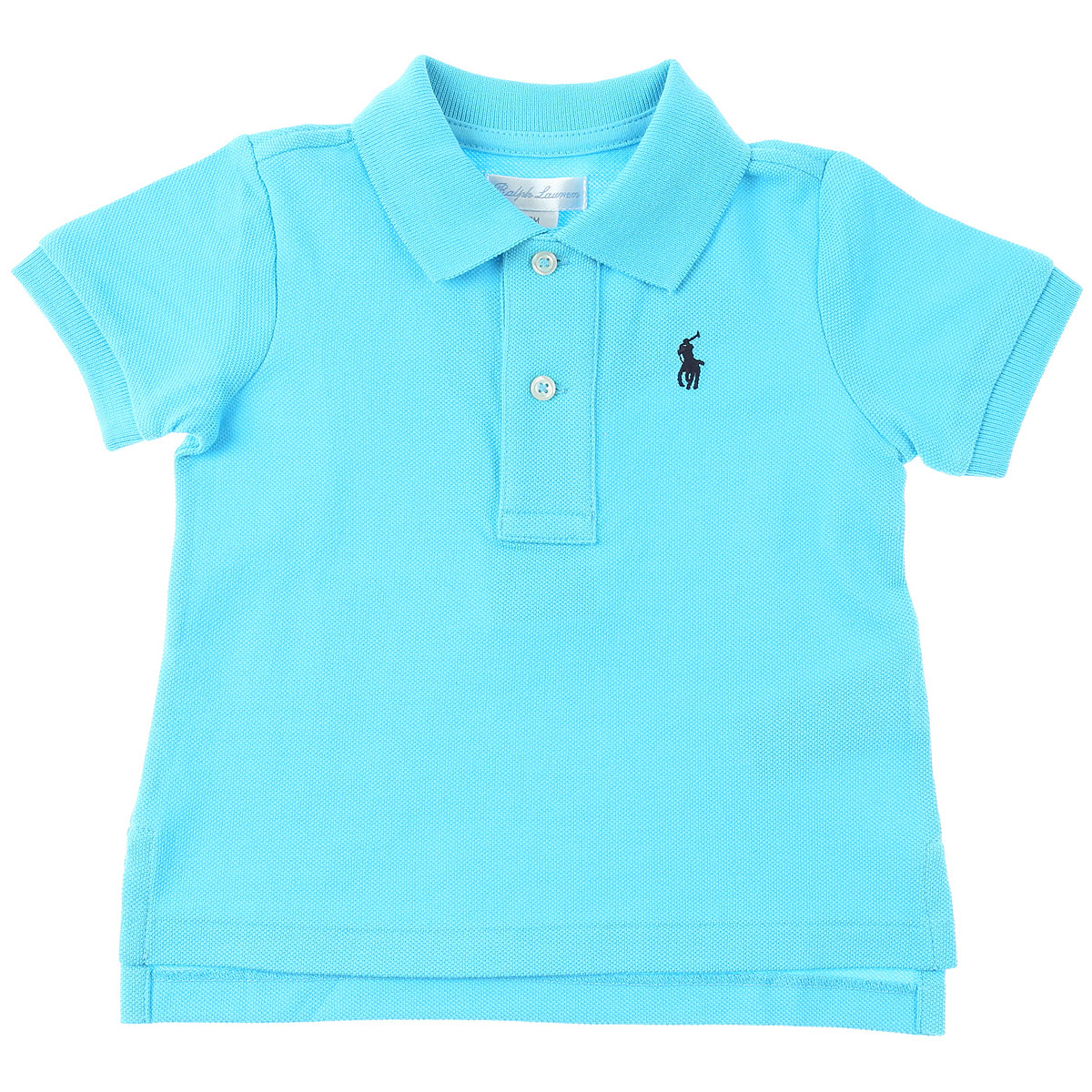 Ralph Lauren Baby Polo Shirt for Boys On Sale, Cyan Blue, Cotton, 2019, 2Y 3M 6M 9M