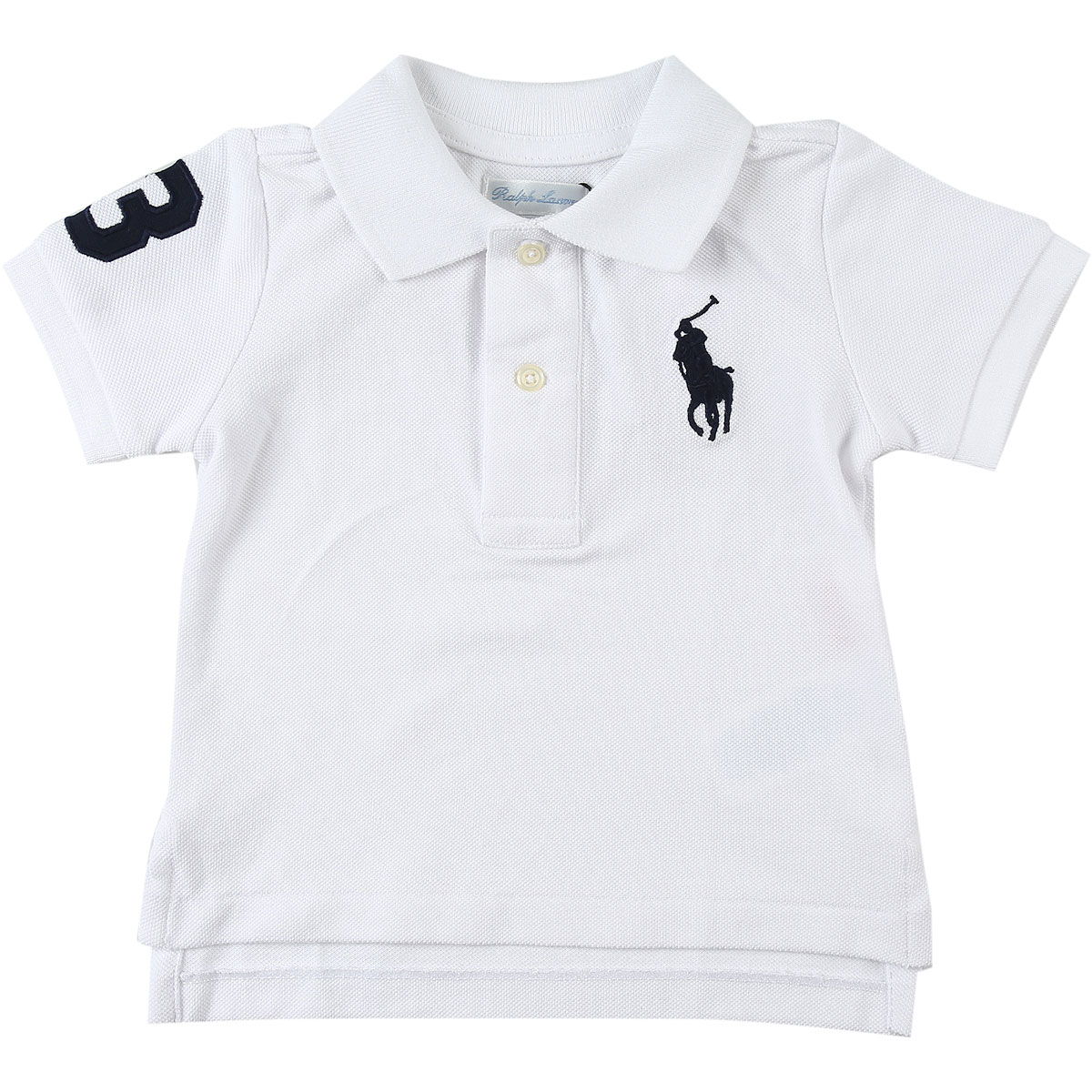 Ralph Lauren Baby Polo Shirt for Boys On Sale, White, Cotton, 2019, 2Y 6M 9M