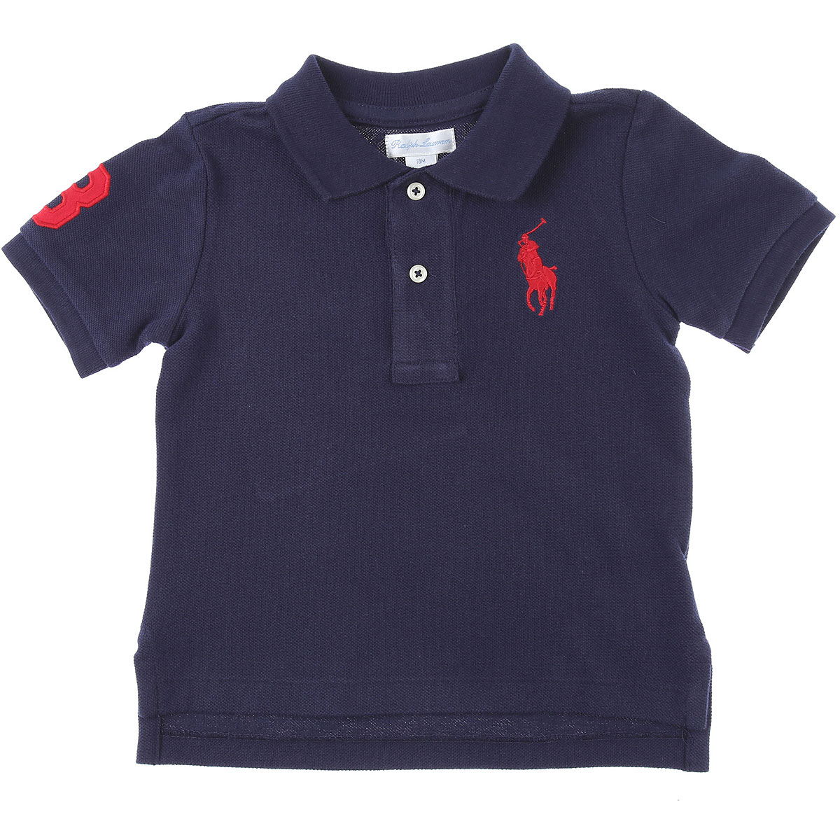 Ralph Lauren Baby Polo Shirt for Boys On Sale, navy, Cotton, 2019, 12 M 18M 2Y 6M 9M