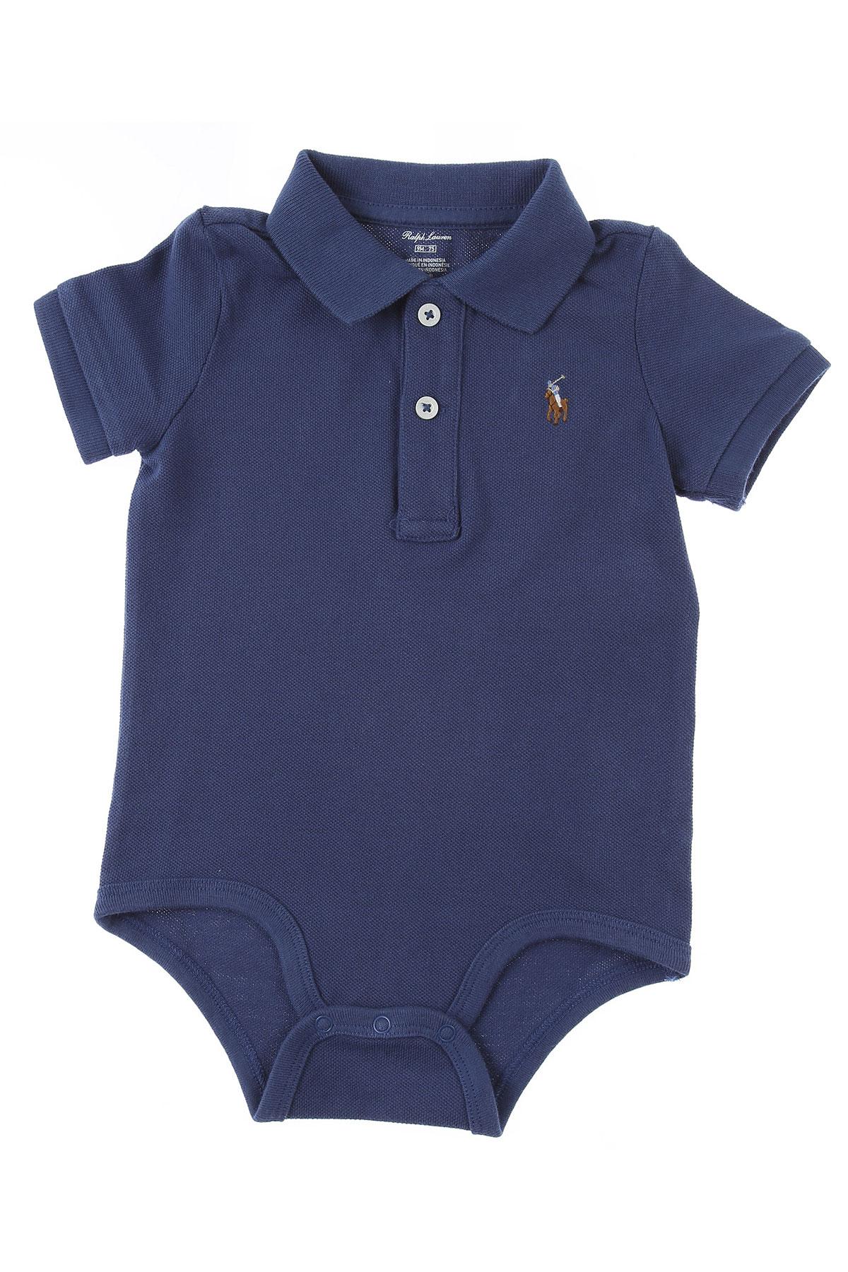 Ralph Lauren Baby Bodysuits & Onesies for Boys On Sale, Bue, Cotton, 2019, 12 M 9M