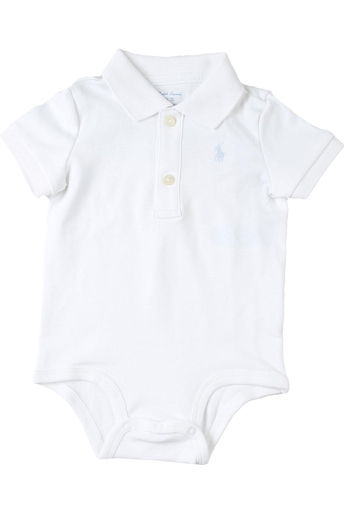 Ralph Lauren Baby Bodysuits & Onesies for Boys On Sale, White, polyester, 2019, 3M 6M 9M