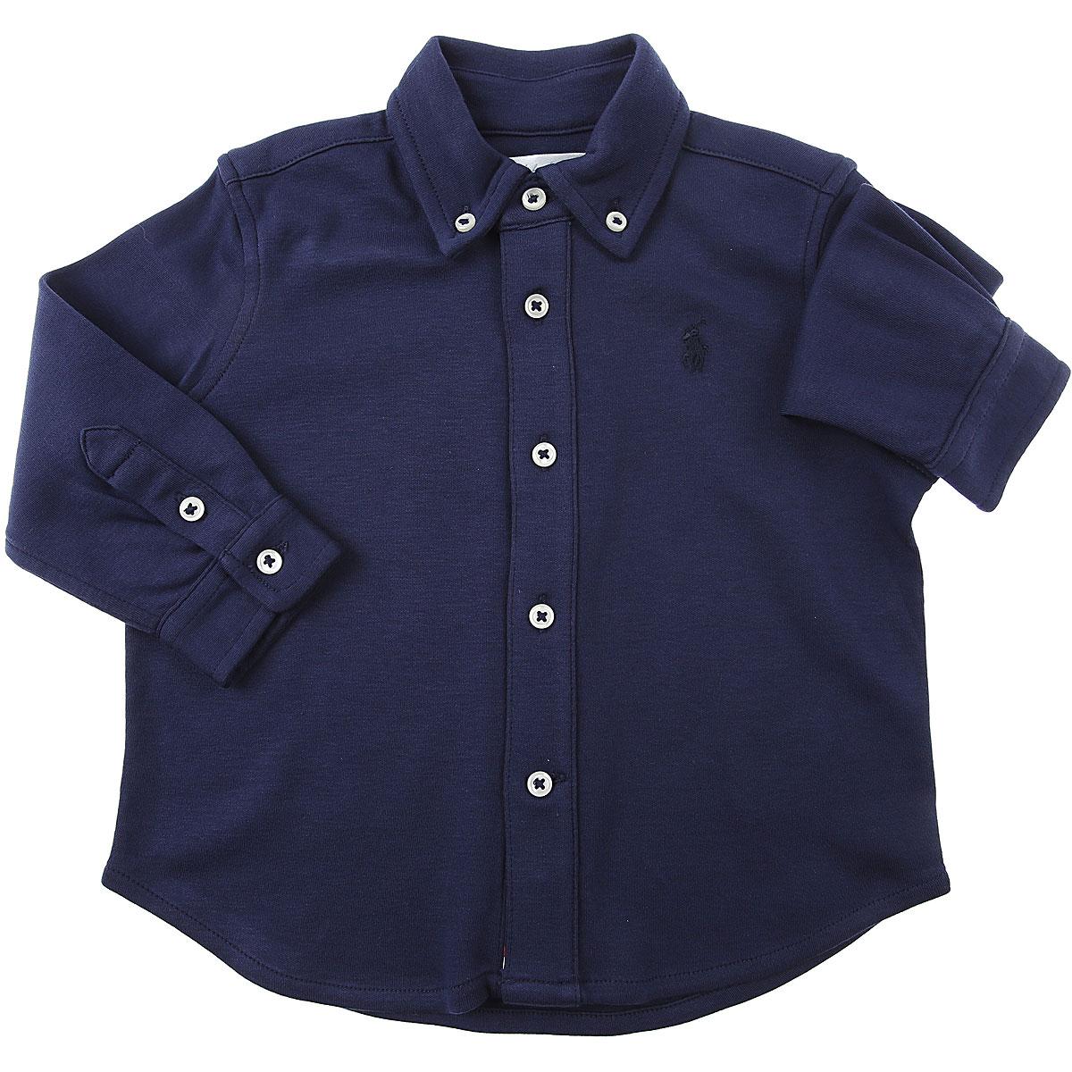 Ralph Lauren Baby Shirts for Boys On Sale, Blue, Cotton, 2019, 12 M 2Y