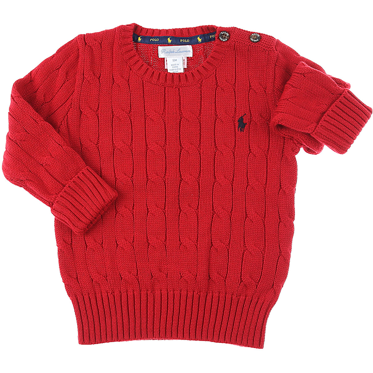 Ralph Lauren Baby Sweaters for Boys On Sale, Red, Cotton, 2019, 12 M 18M 2Y 9M