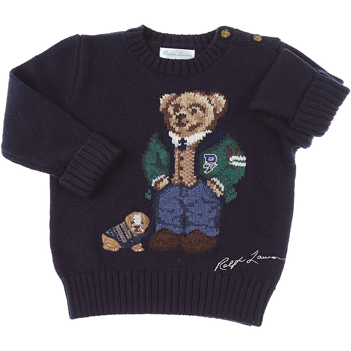 Ralph Lauren Baby Sweaters for Boys On Sale, navy, Cotton, 2019, 12 M 18M 2Y 9M