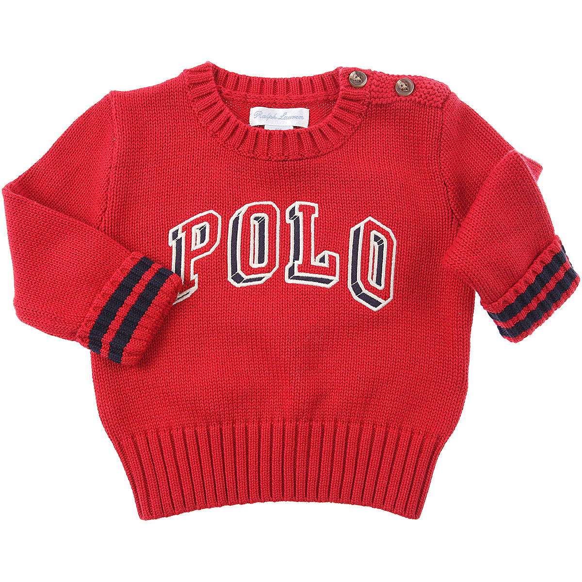 Ralph Lauren Baby Sweaters for Boys On Sale, Red, Cotton, 2019, 12 M 2Y 9M