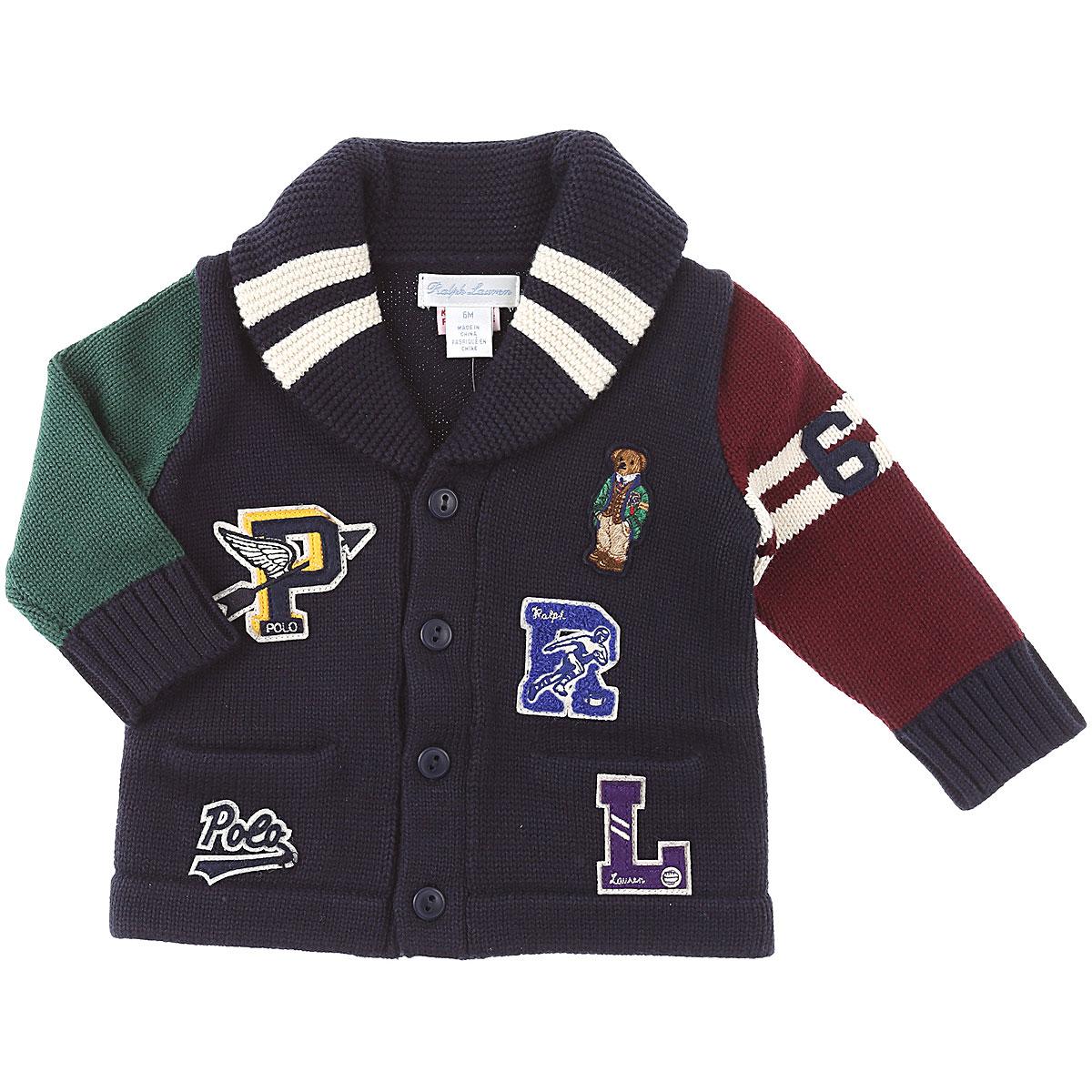 Ralph Lauren Baby Sweaters for Boys On Sale, Blu, Cotton, 2019, 18M 6M