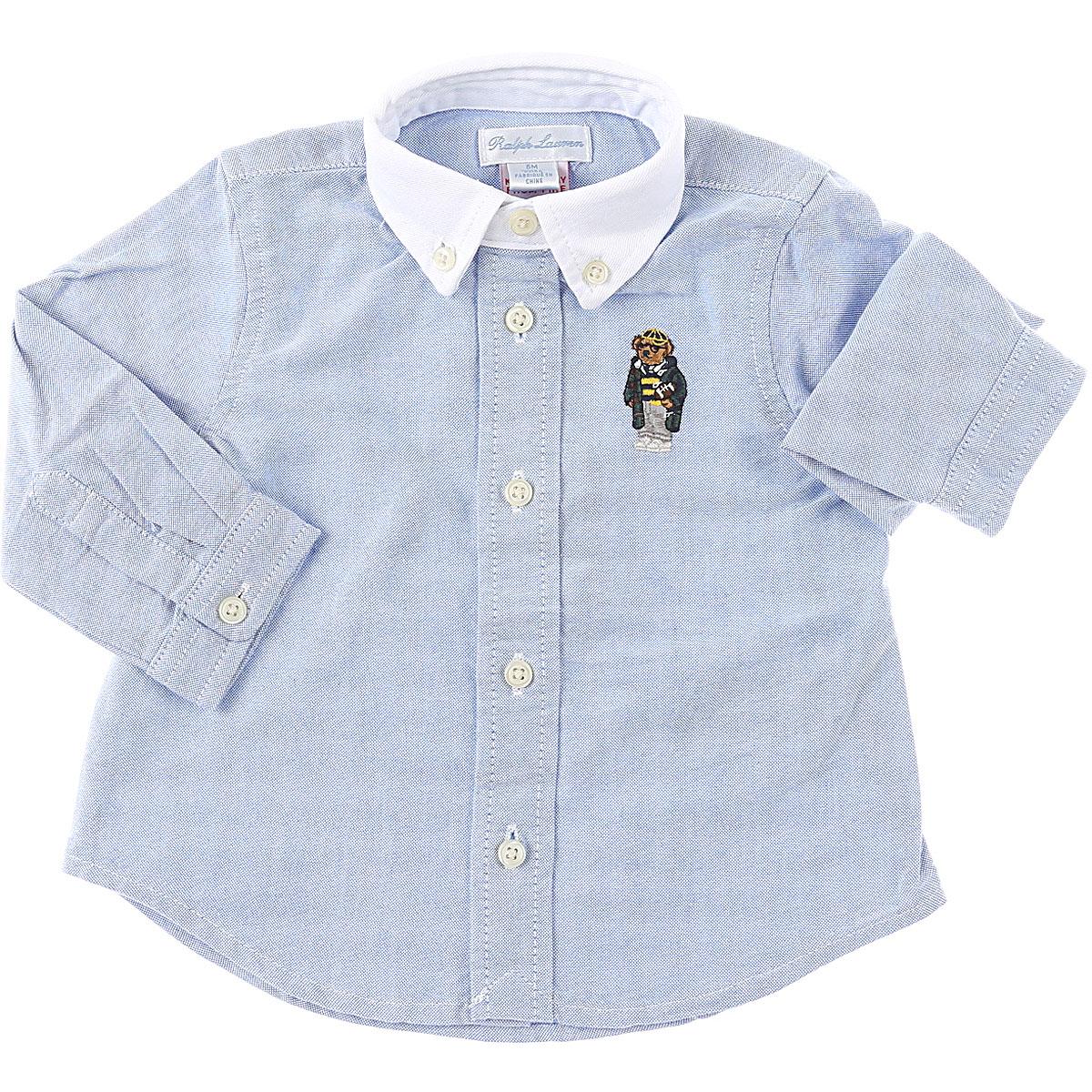 Ralph Lauren Baby Shirts for Boys On Sale, Sky, Cotton, 2019, 12 M 18M 6M