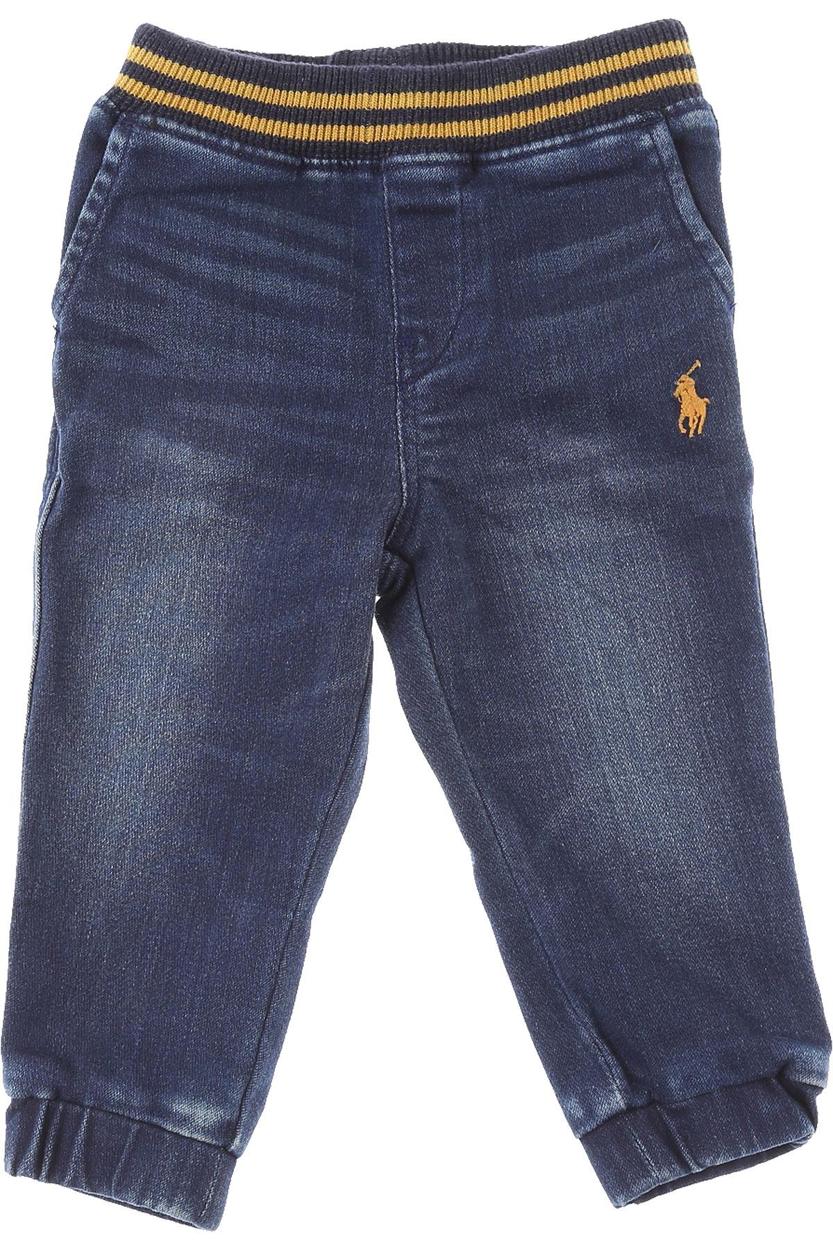 Ralph Lauren Baby Jeans for Boys On Sale, Blue Denim, Cotton, 2019, 12 M 18 M 6M