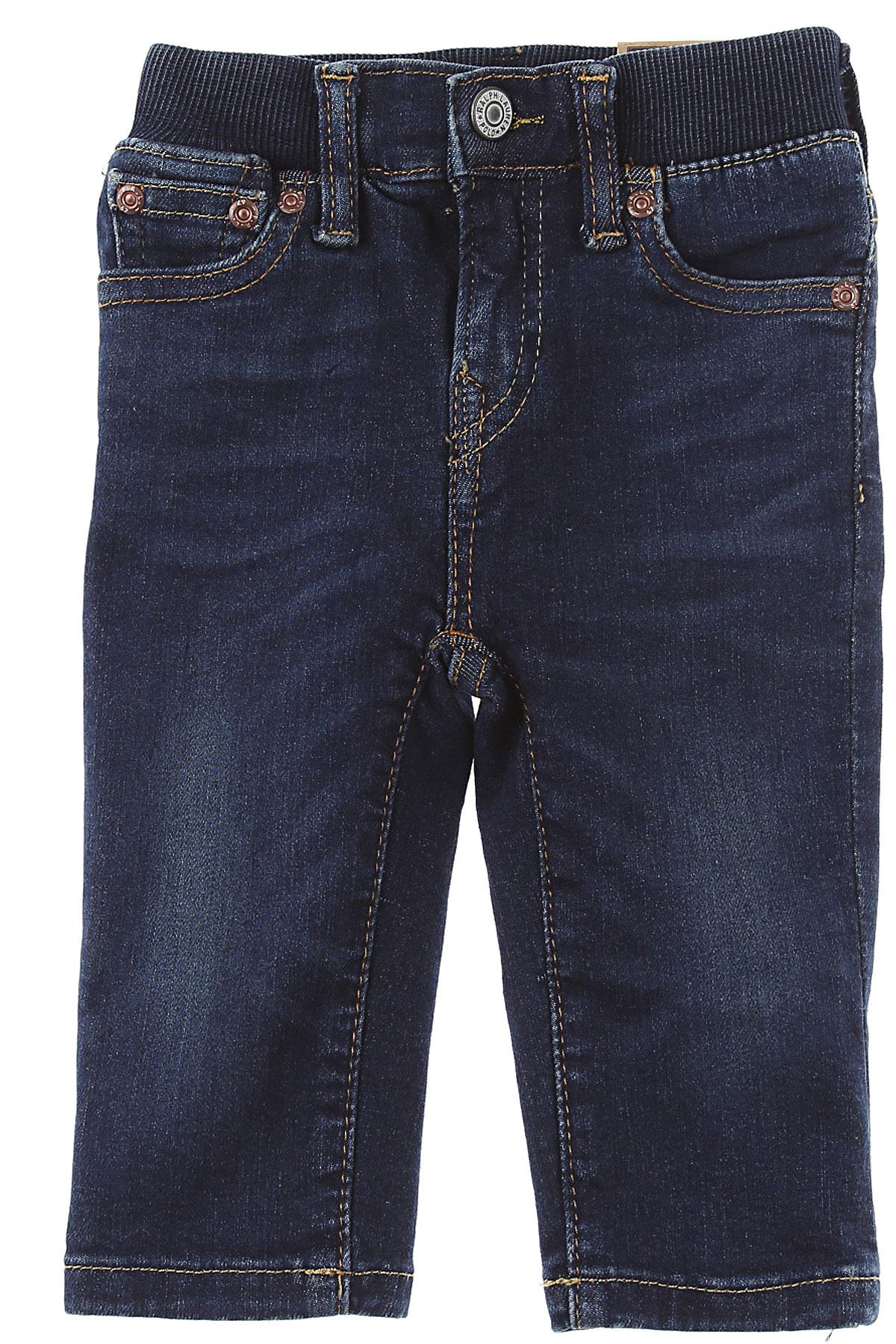 Ralph Lauren Baby Jeans for Boys On Sale, Denim Blue, Cotton, 2019, 18 M 2Y