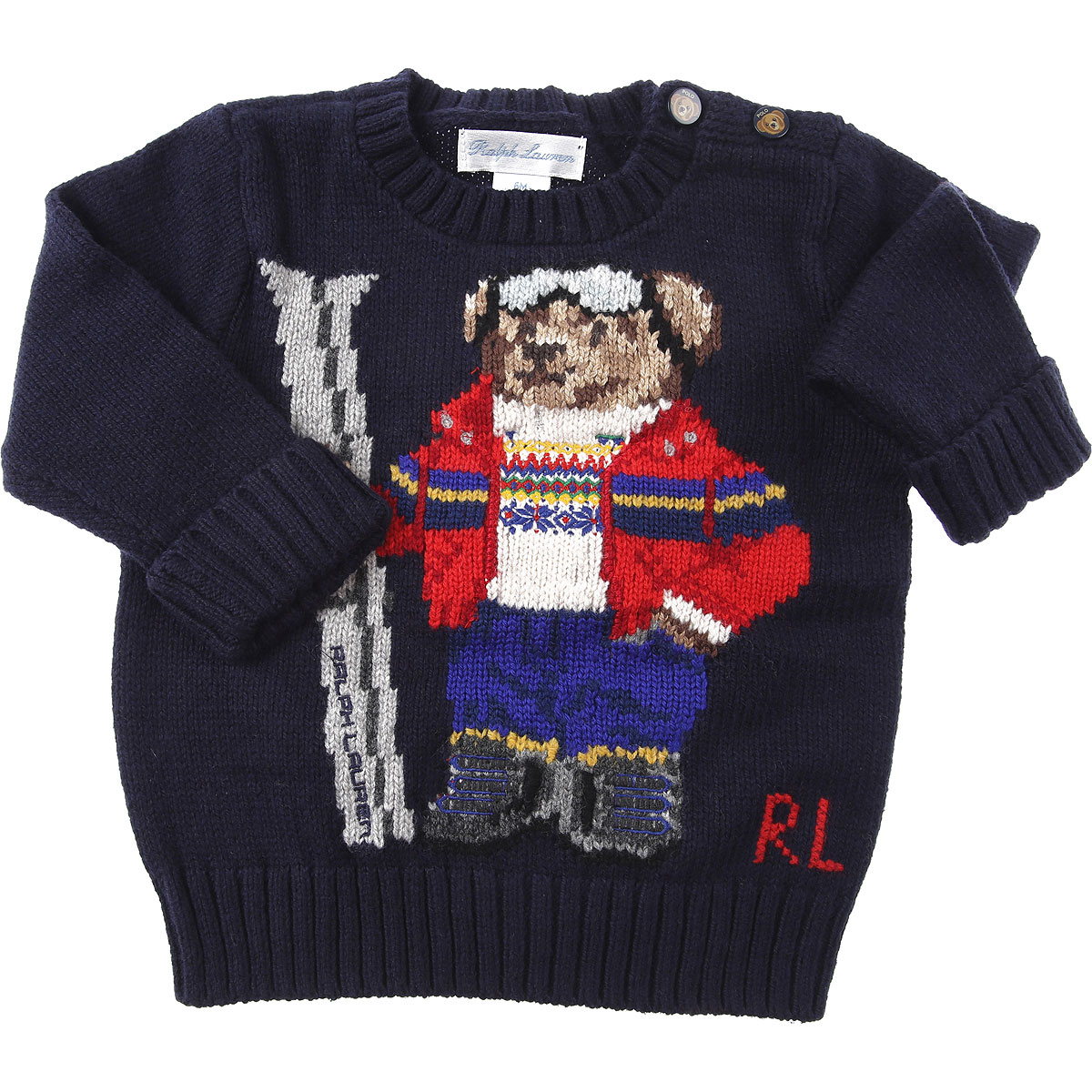 Ralph Lauren Baby Sweaters for Boys On Sale, navy, Cotton, 2019, 12 M 18M 6M