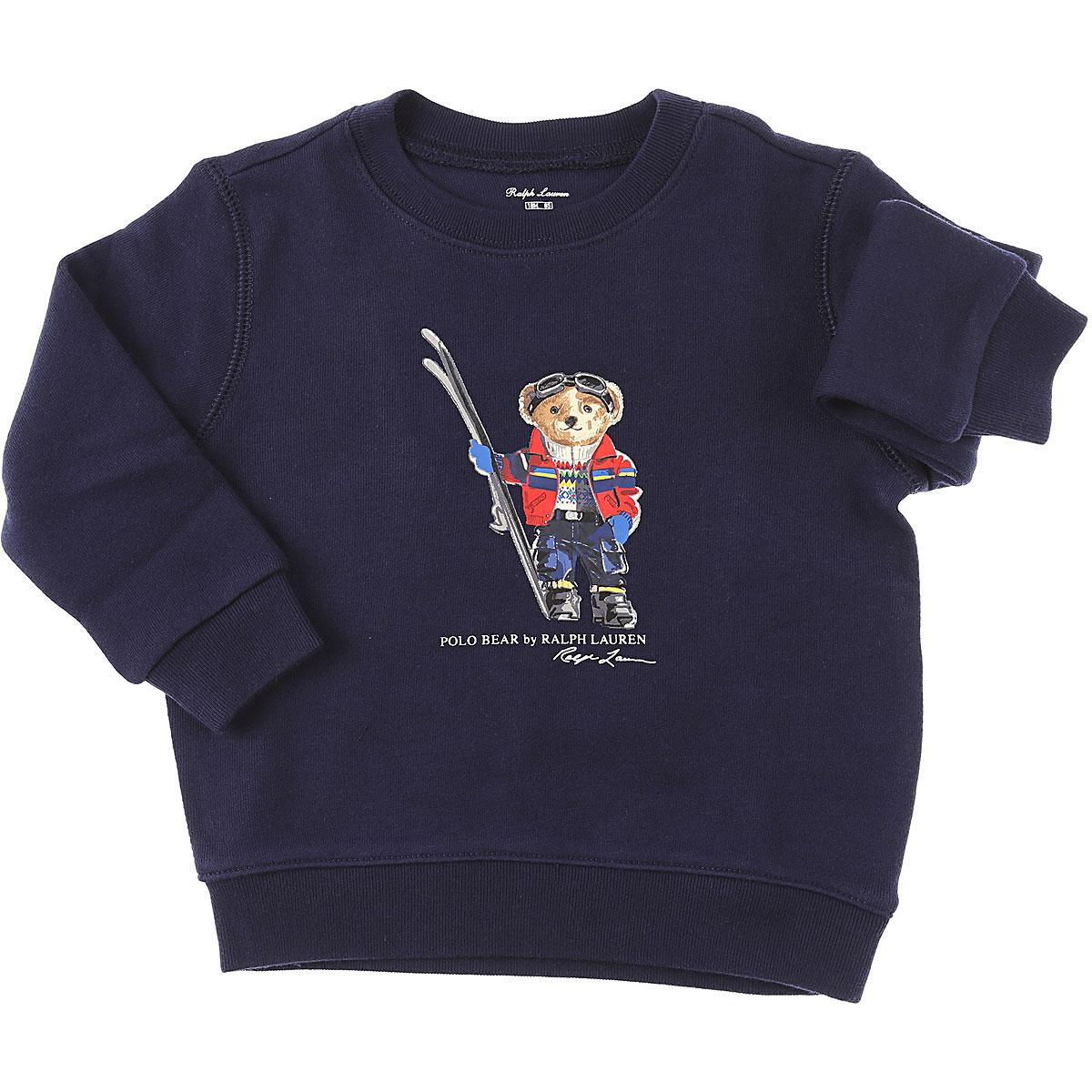 Ralph Lauren Baby Sweatshirts & Hoodies for Boys On Sale, navy, Cotton, 2019, 12 M 18M 2Y 3M 9M
