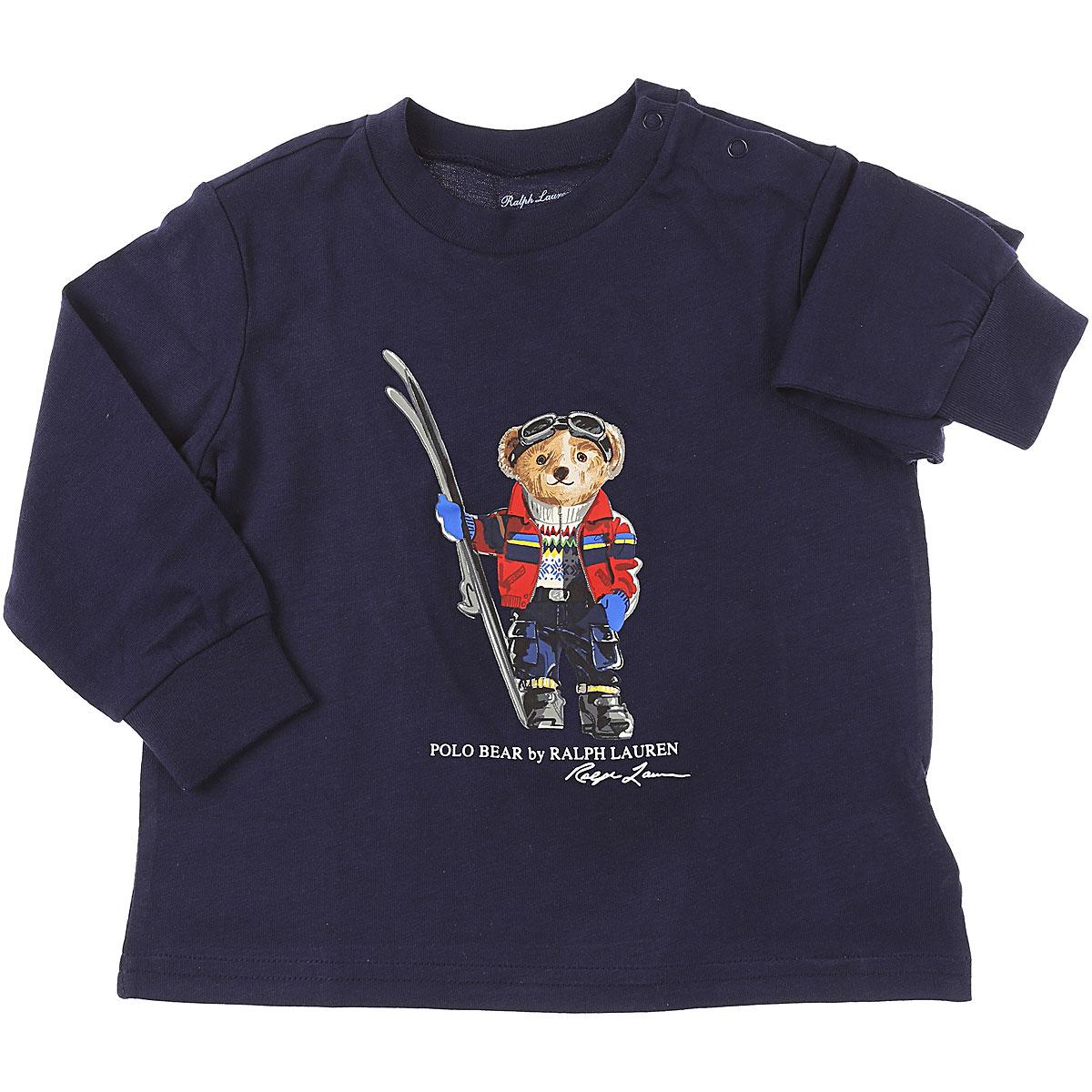 Ralph Lauren Baby T-Shirt for Boys On Sale, navy, Cotton, 2019, 12 M 3M 6M 9M