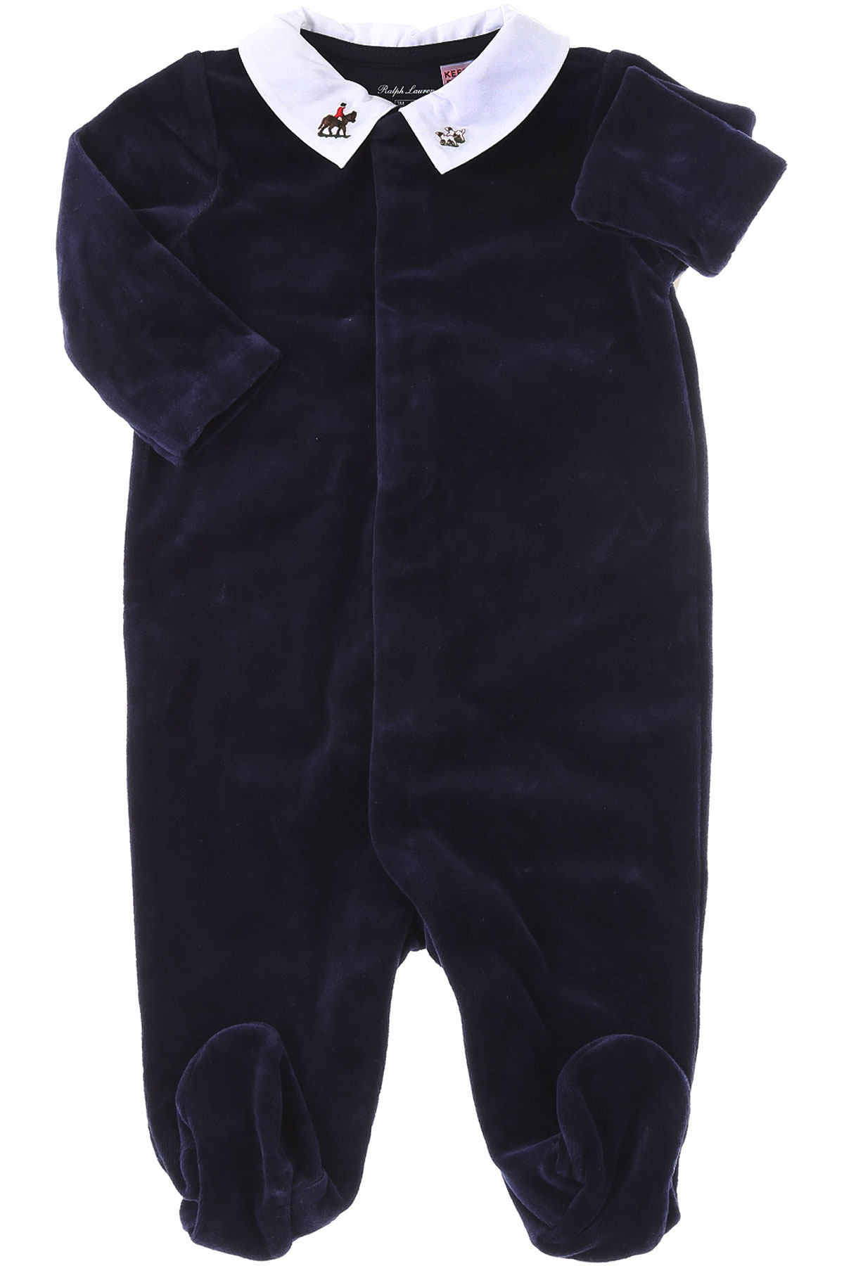 Ralph Lauren Baby Bodysuits & Onesies for Boys On Sale, navy, Cotton, 2019, 3M 6M 9M