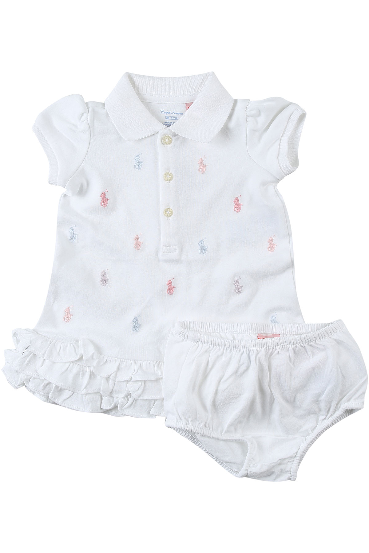 Ralph Lauren Baby Sets for Girls On Sale, White, Cotton, 2019, 12M 18M 2Y 9M 9M