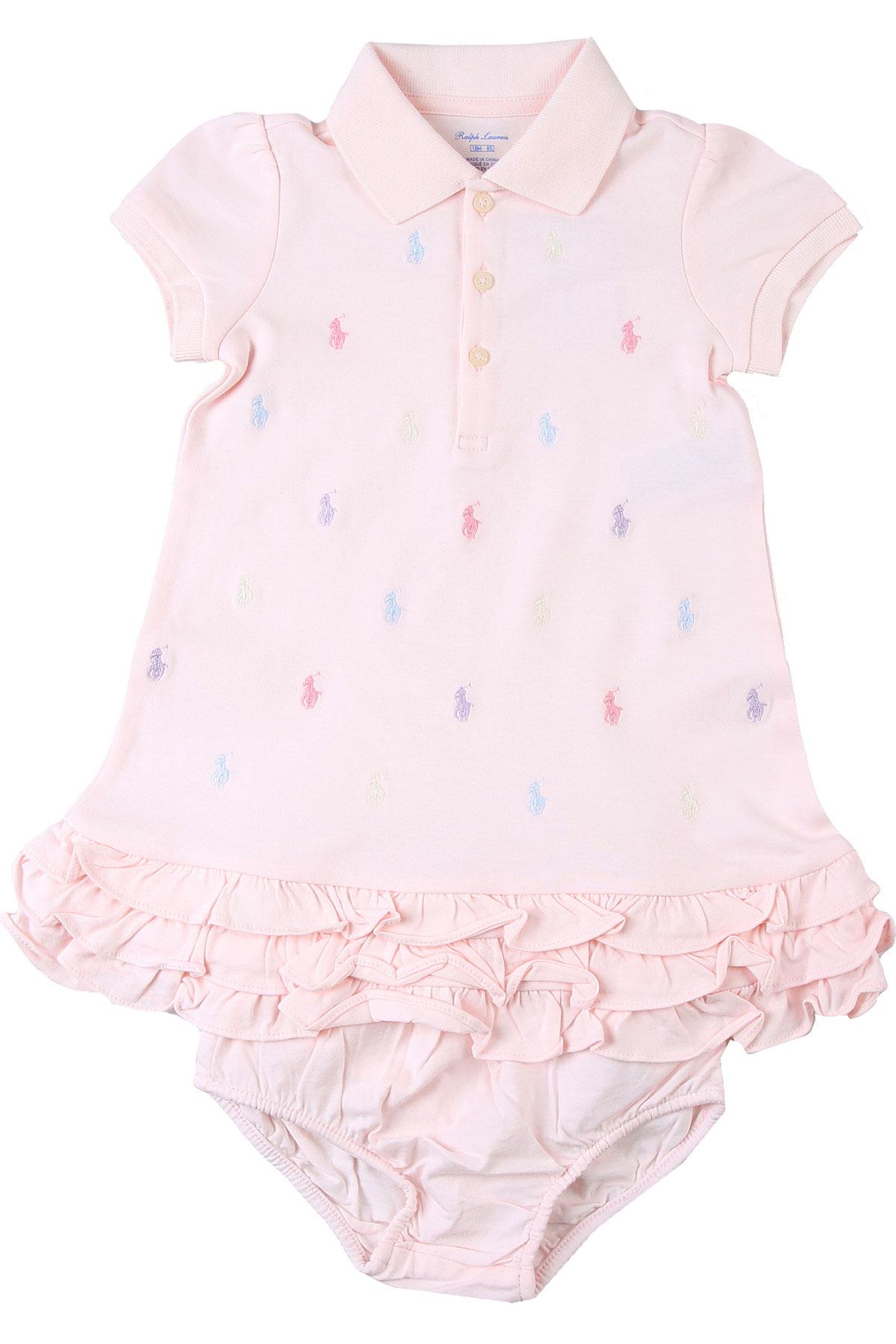 Ralph Lauren Baby Bodysuits & Onesies for Girls On Sale, Pink, Cotton, 2019, 12M 18M 2Y 6M