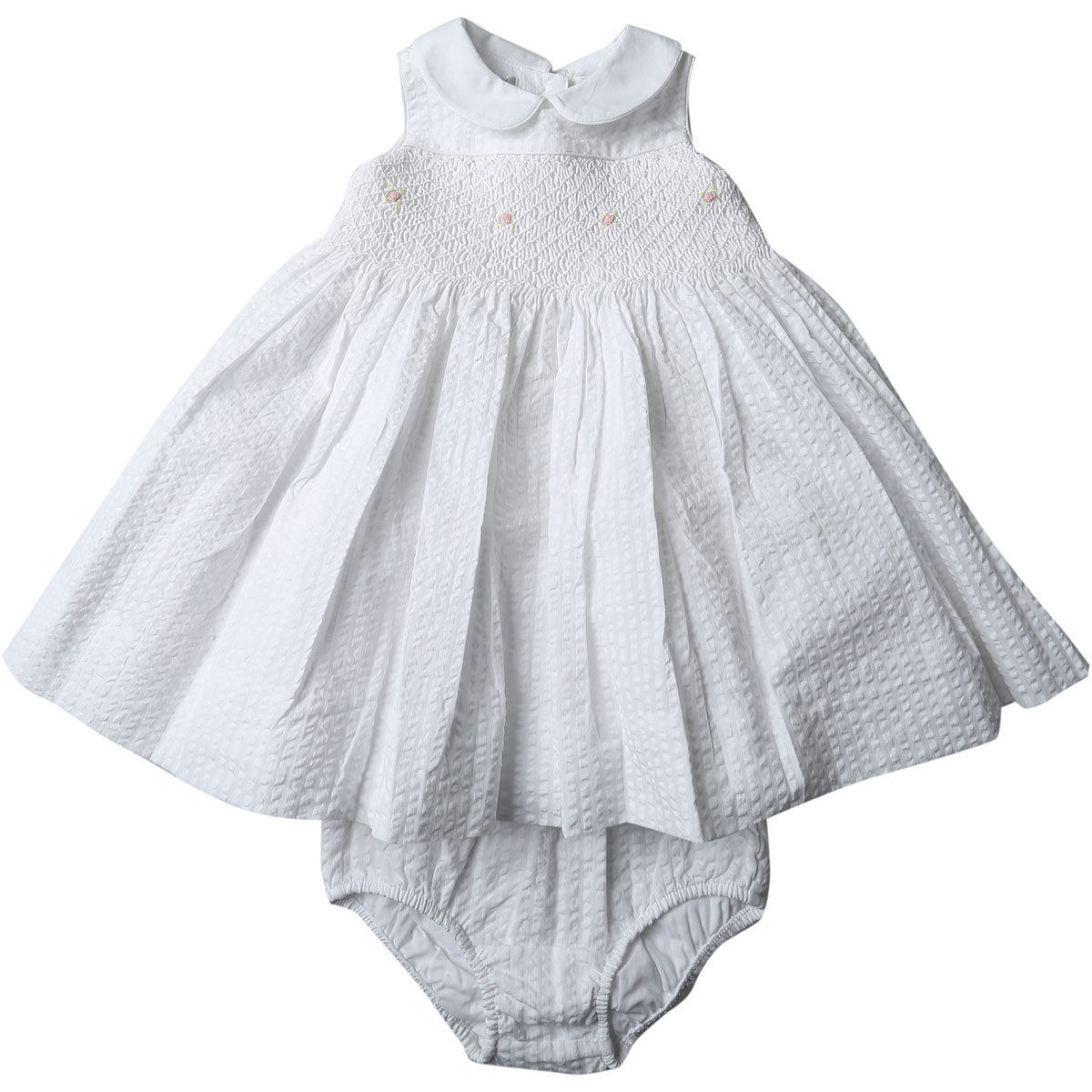 Image of Ralph Lauren Baby Dress for Girls On Sale, White, Cotton, 2017, 12M 3M 6M 9M
