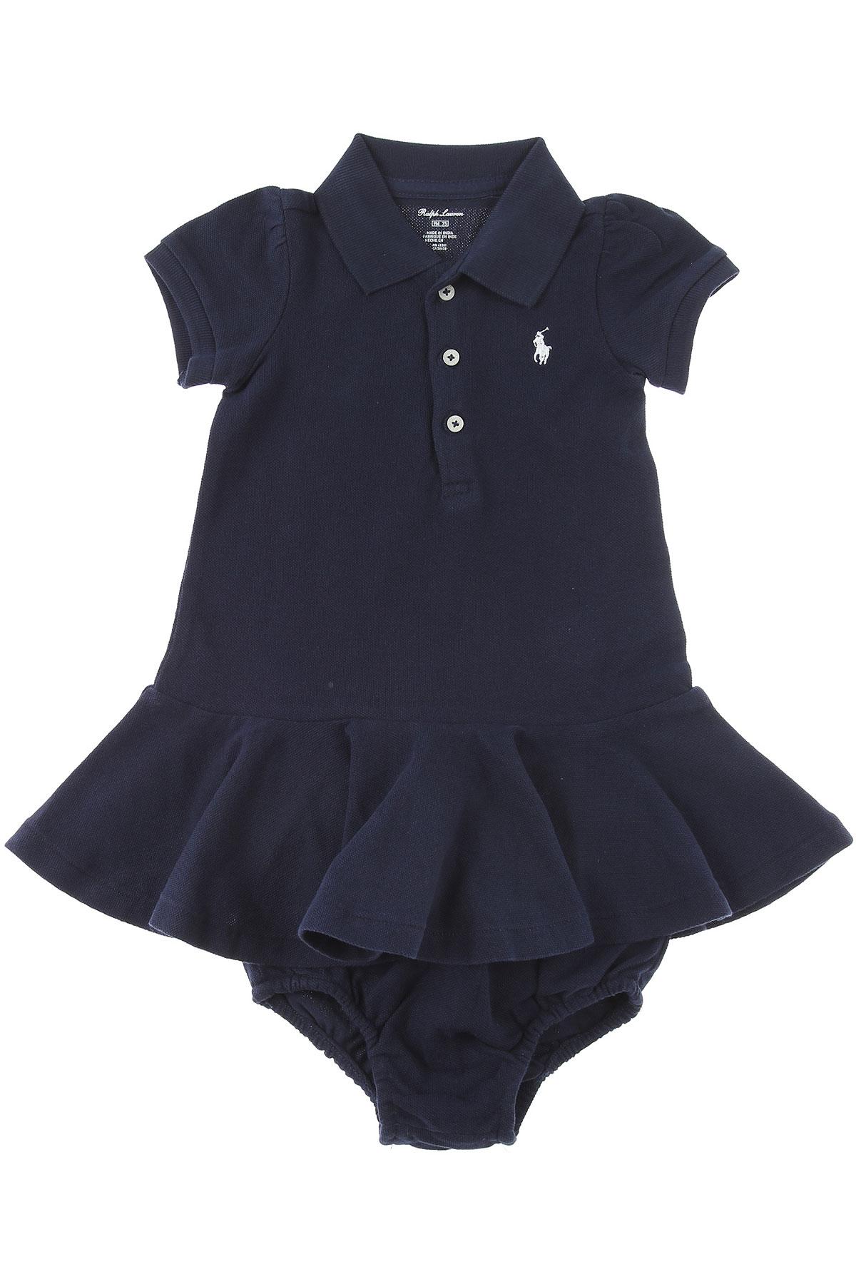 Ralph Lauren Baby Dress for Girls On Sale, navy, Cotton, 2019, 12M 18M 2Y 6M 9M