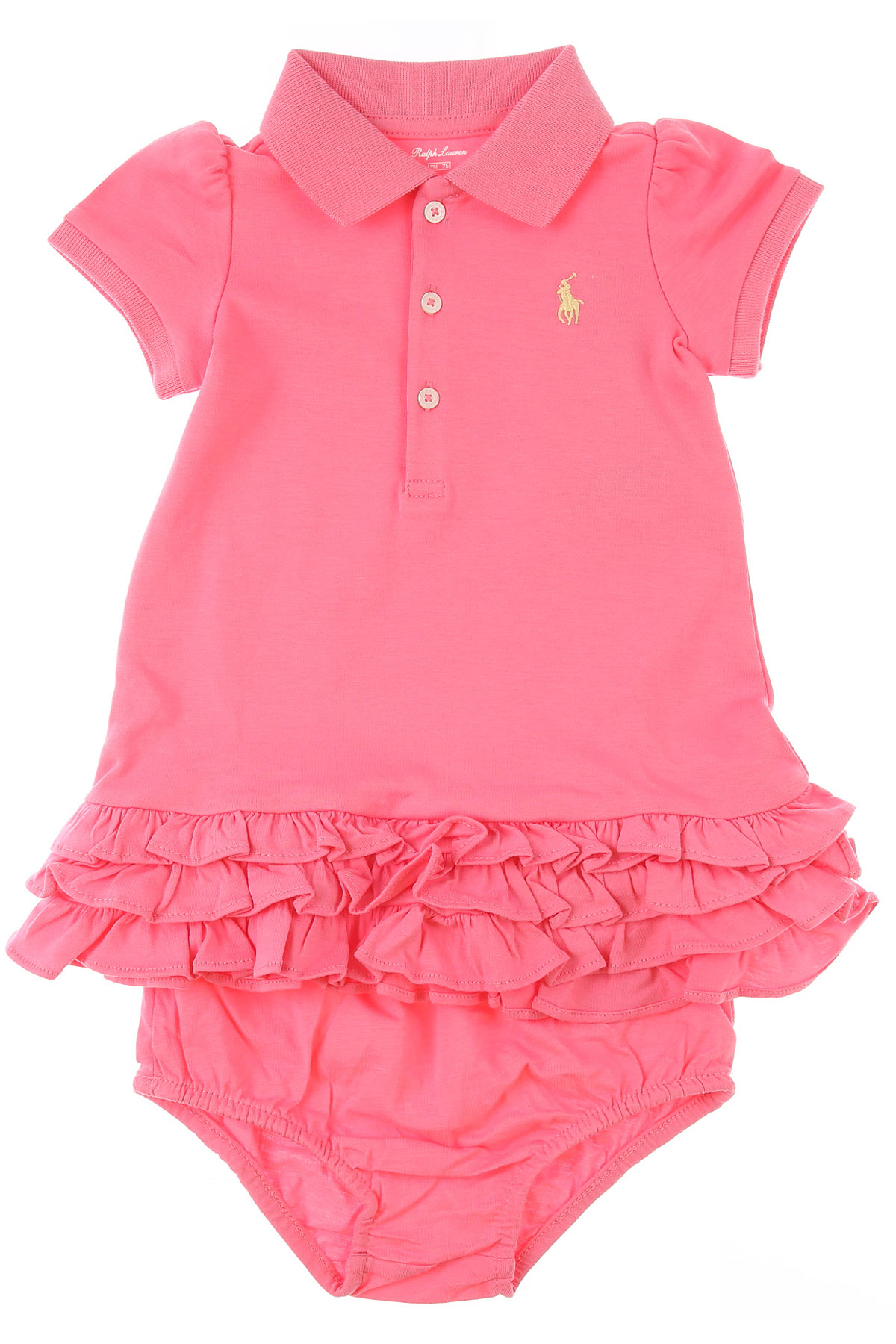 Ralph Lauren Baby Dress for Girls On Sale, Hot Pink, Cotton, 2019, 3M 9M