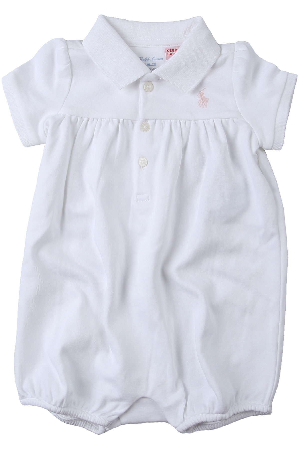 Ralph Lauren Baby Bodysuits & Onesies for Girls On Sale in Outlet, White, Cotton, 2019, 3M 6M
