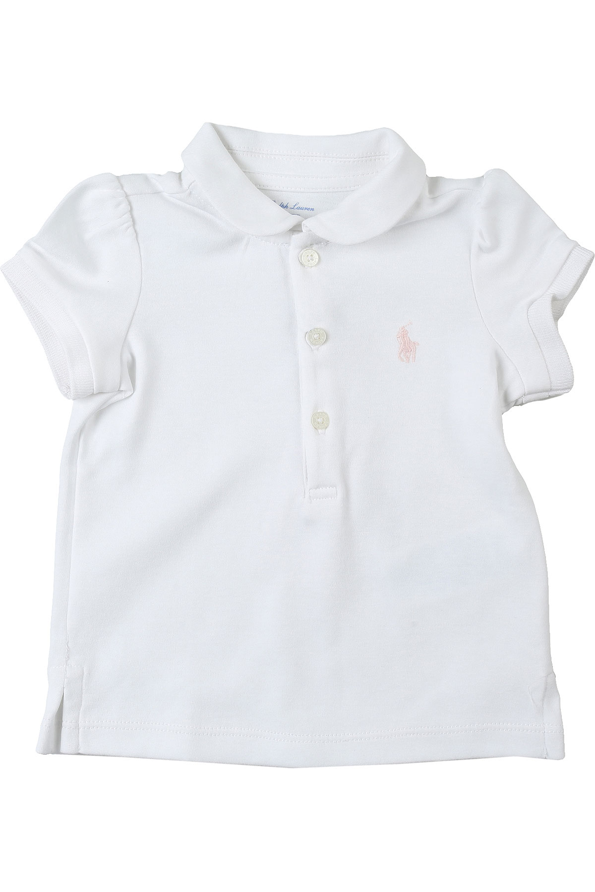 Ralph Lauren Baby Polo Shirt for Girls On Sale, White, Cotton, 2019, 12M 2Y 6M 9M