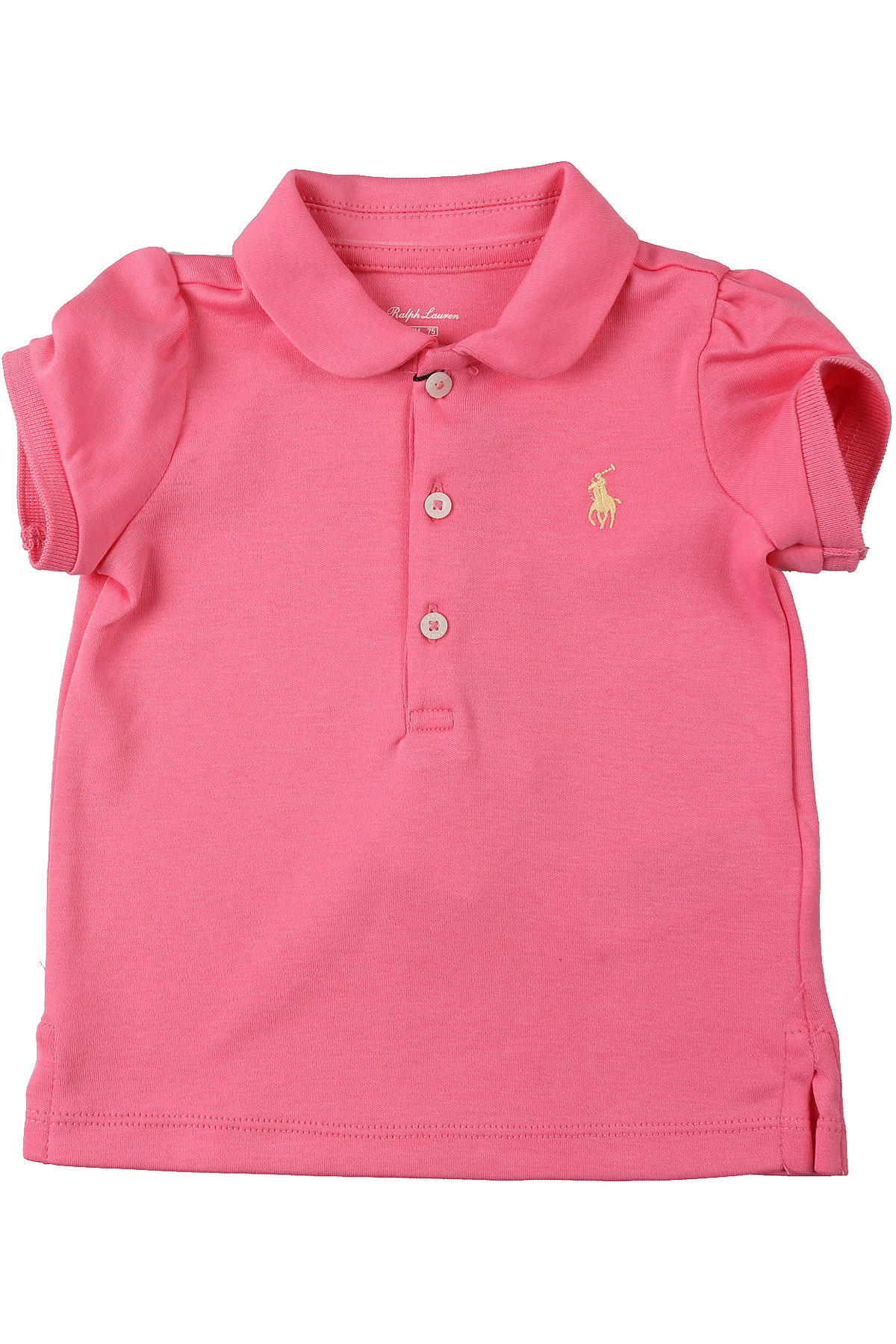 Ralph Lauren Baby Polo Shirt for Girls On Sale, Pink, Cotton, 2019, 12M 18M 2Y 6M 9M