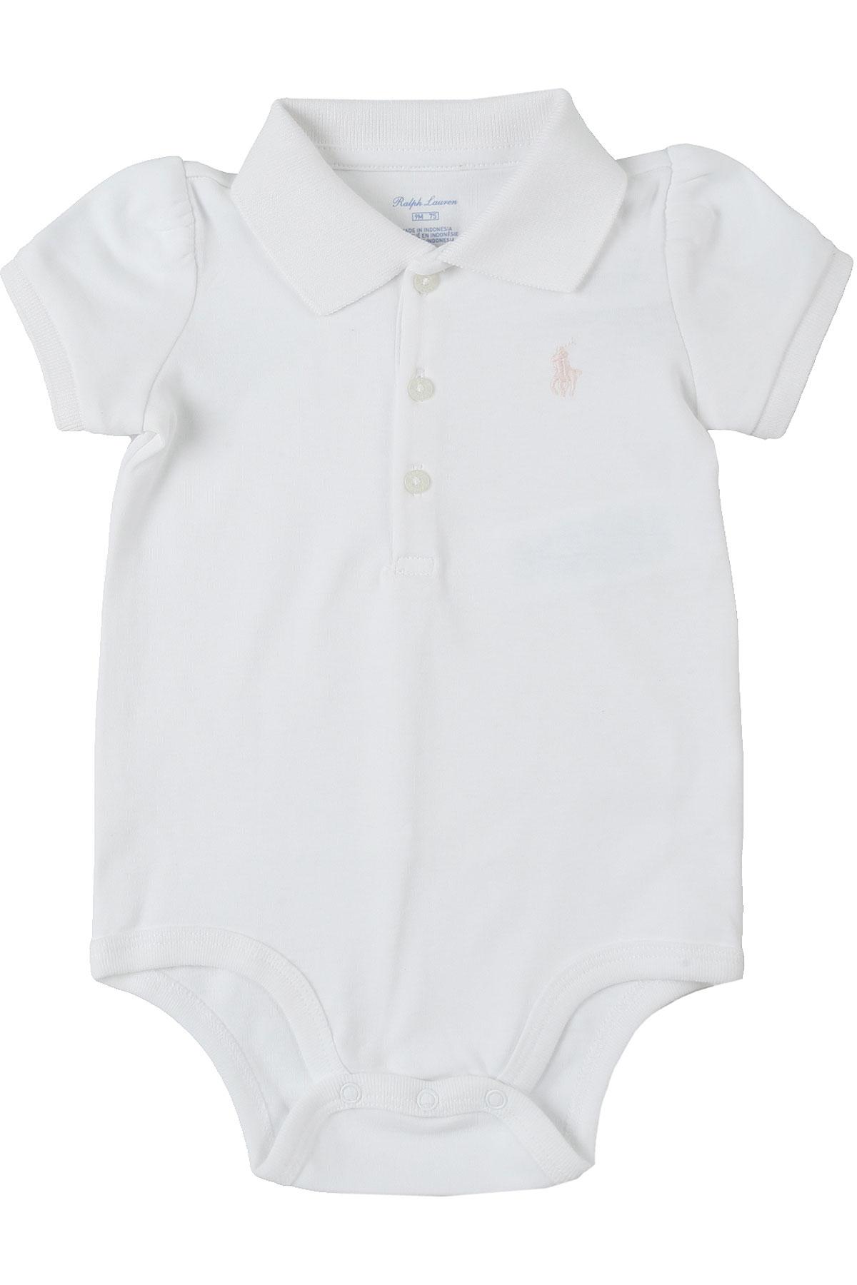 Ralph Lauren Baby Bodysuits & Onesies for Girls On Sale, White, Cotton, 2019, 3M 6M 9M