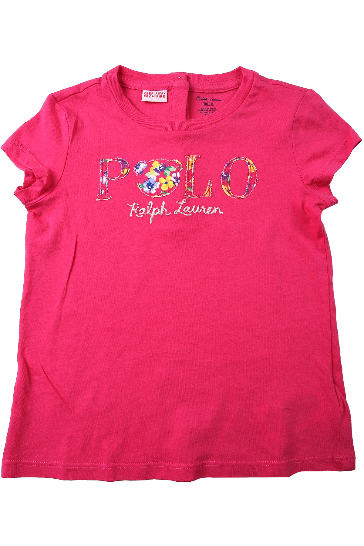 Ralph Lauren Baby T-Shirt for Girls On Sale in Outlet, Fuchsia, Cotton, 2019, 12M 2Y