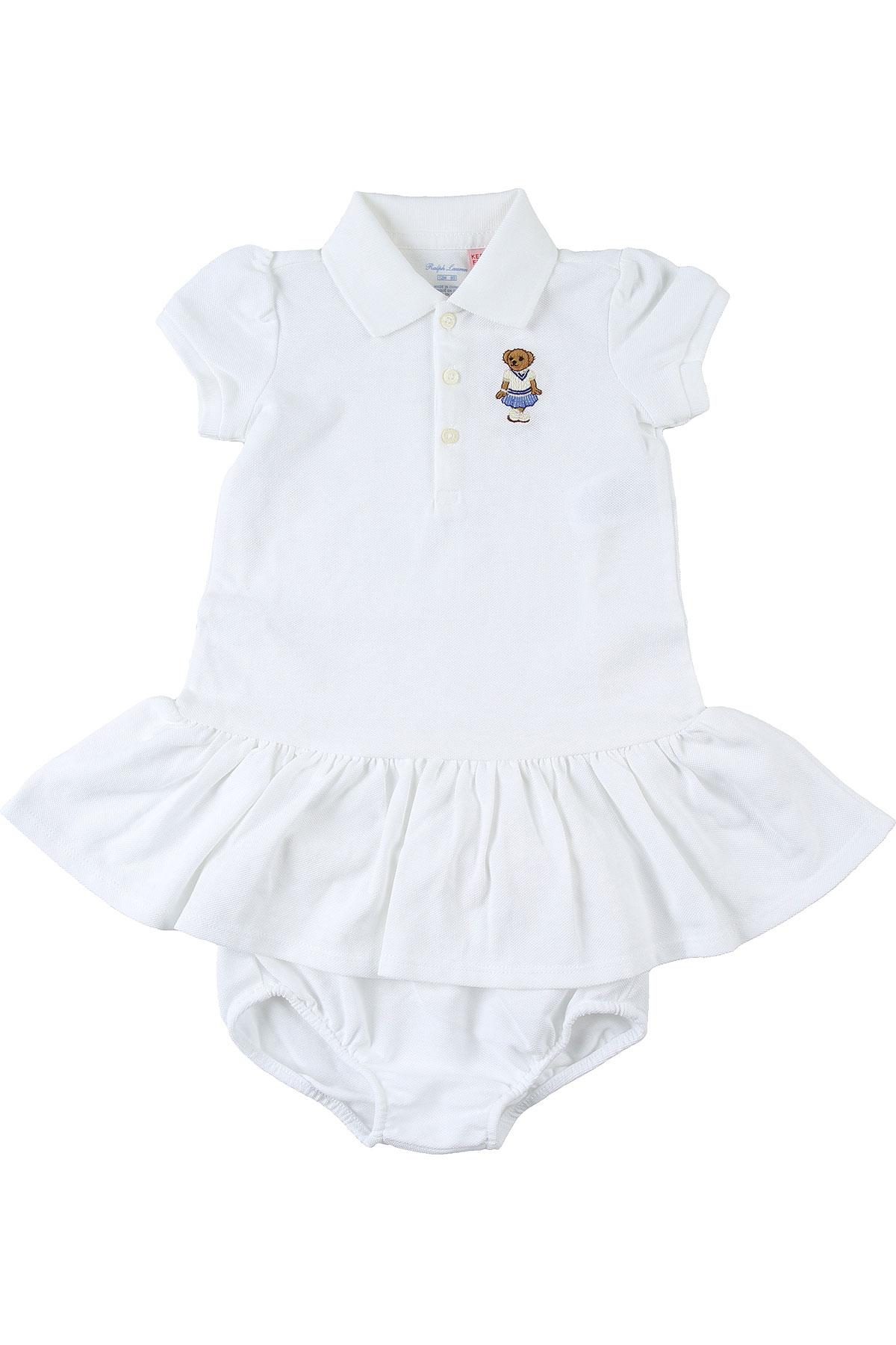 Ralph Lauren Baby Dress for Girls On Sale, White, Cotton, 2019, 12M 2Y 6M 9M