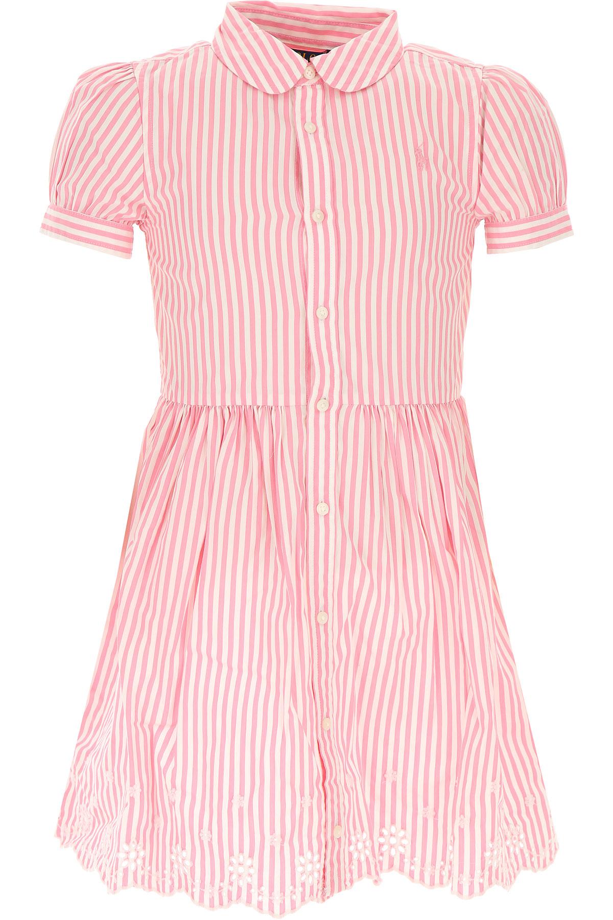 Ralph Lauren Girls Dress, Pink, Cotton, 2017, 2Y 3Y 4Y 5Y 6Y 7Y USA-441243