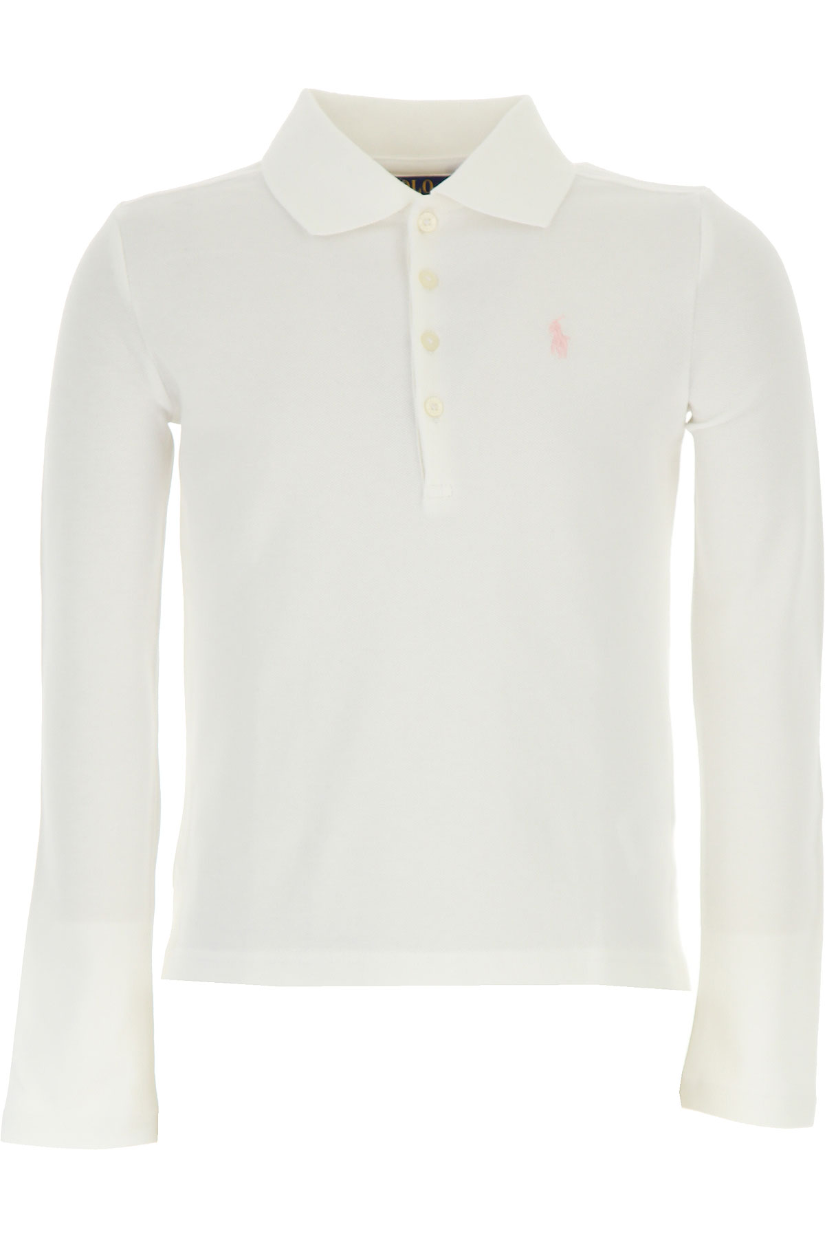 Image of Ralph Lauren Kids Polo Shirt for Girls, White, Cotton, 2017, 2Y 3Y 4Y 5Y 6Y